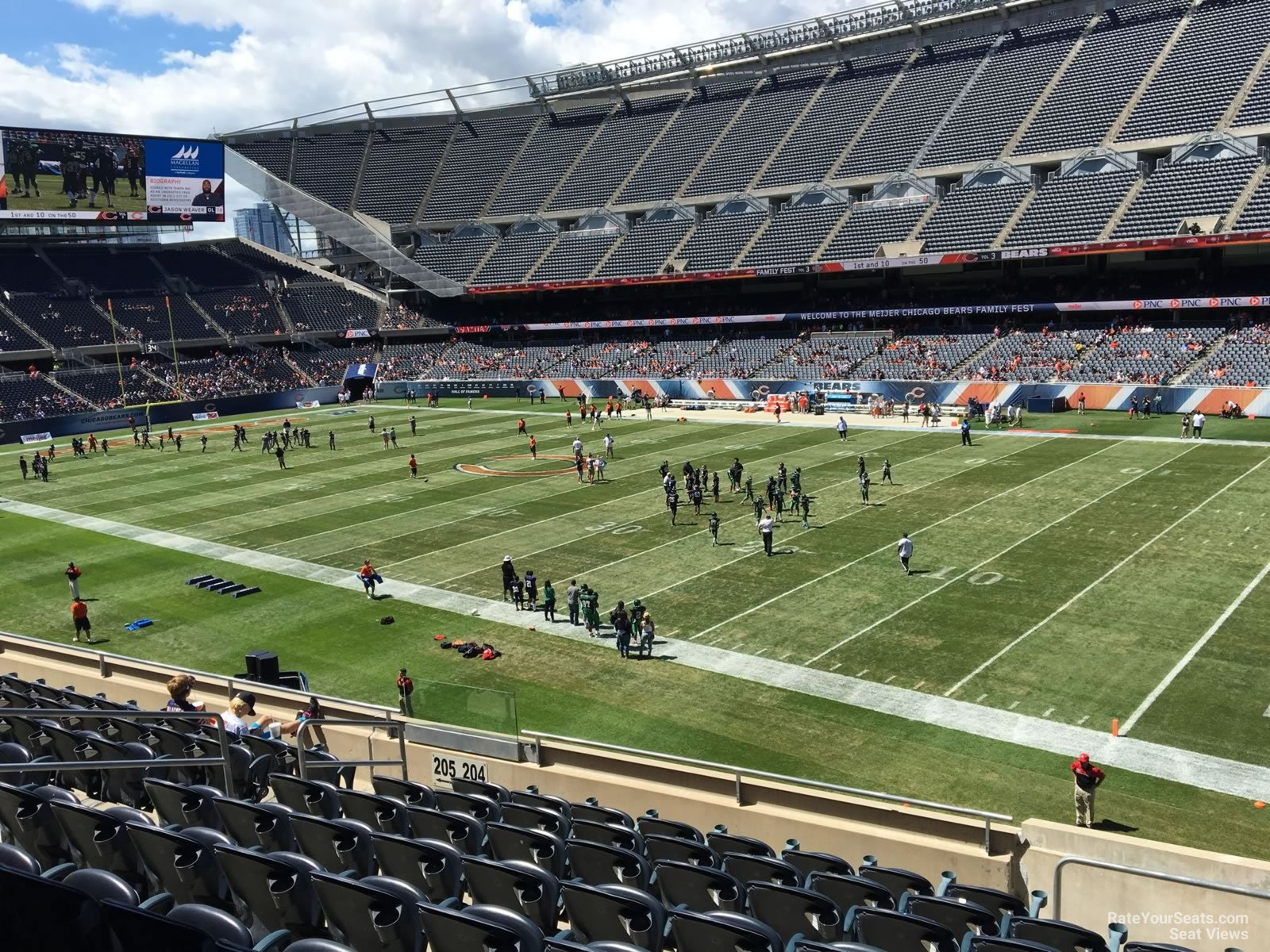 Seat View for Soldier Field Section 204, Row 9