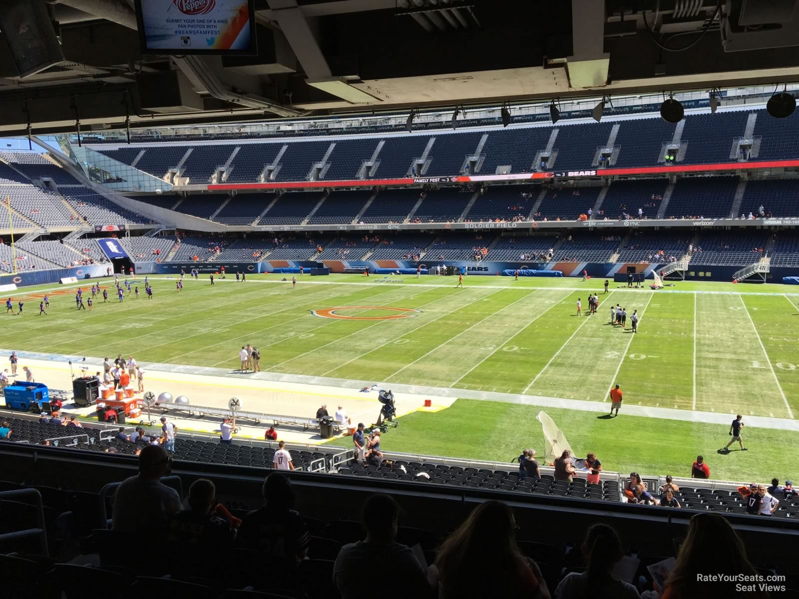 media deck - soldier field football seating