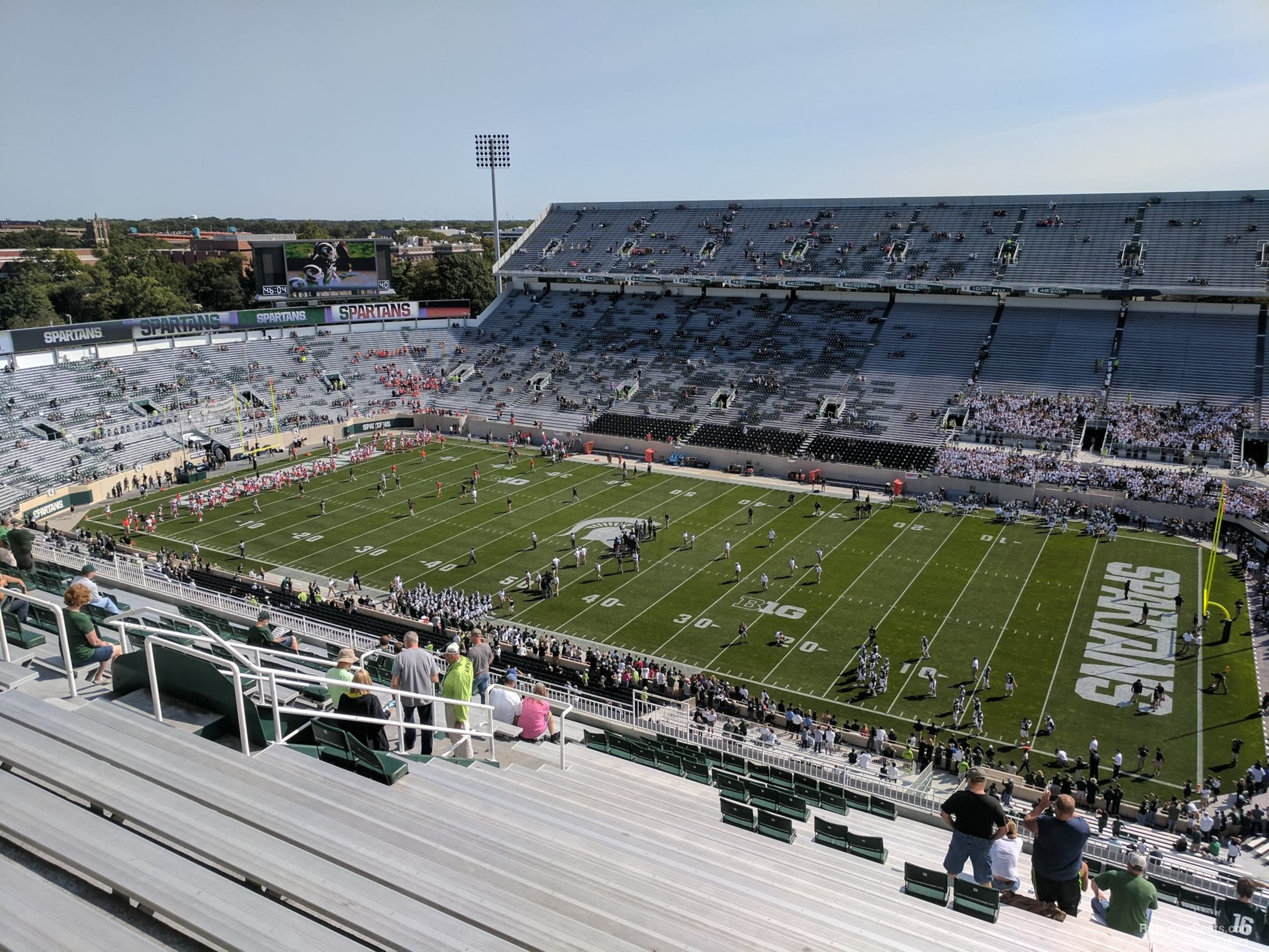 Seat View for Spartan Stadium Section 120, Row 28