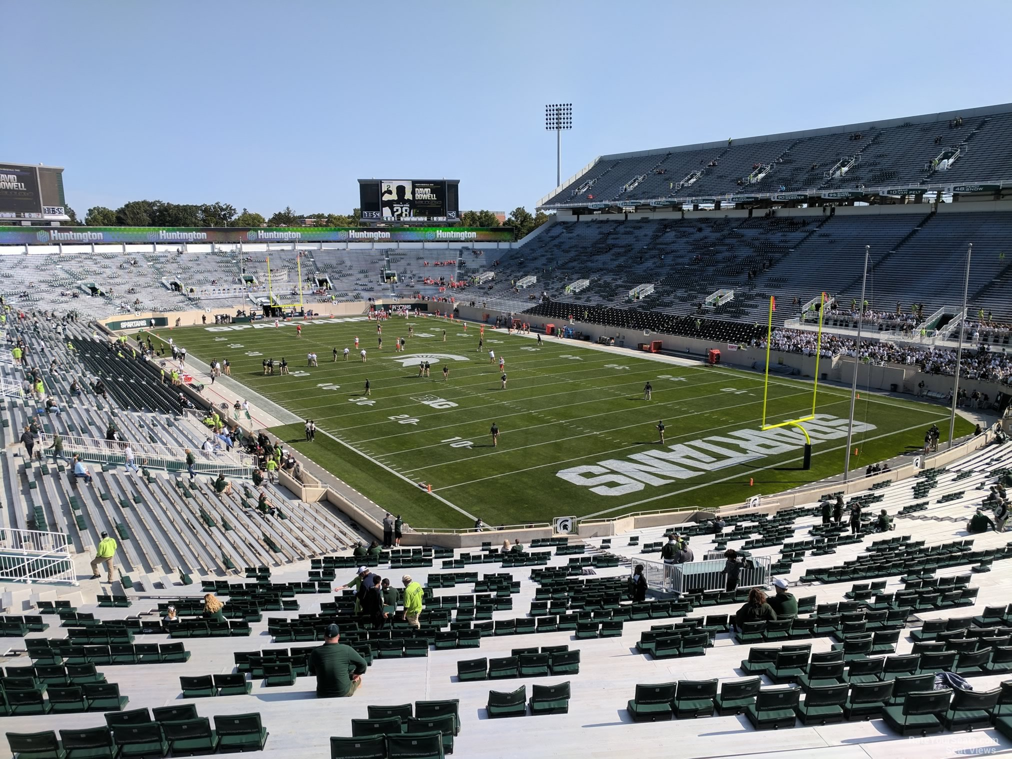 Seat View for Spartan Stadium Section 18, Row 55