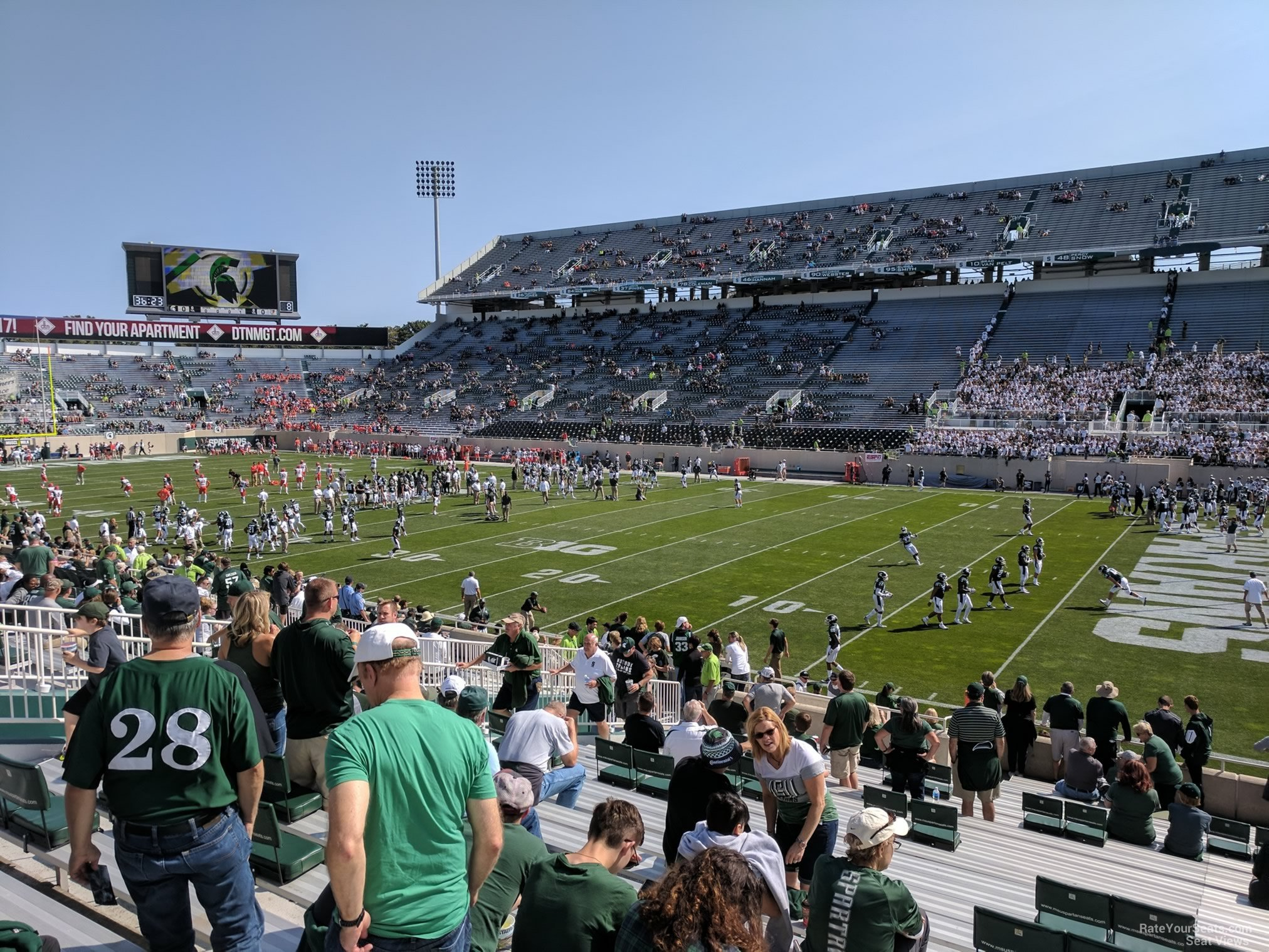 Seat View for Spartan Stadium Section 21, Row 25