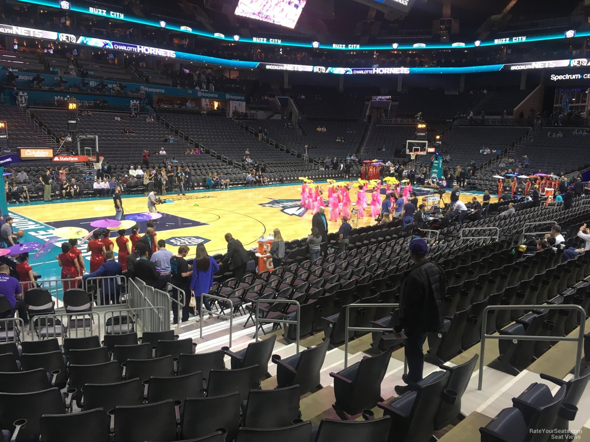 Spectrum Center Section 107 Charlotte Hornets