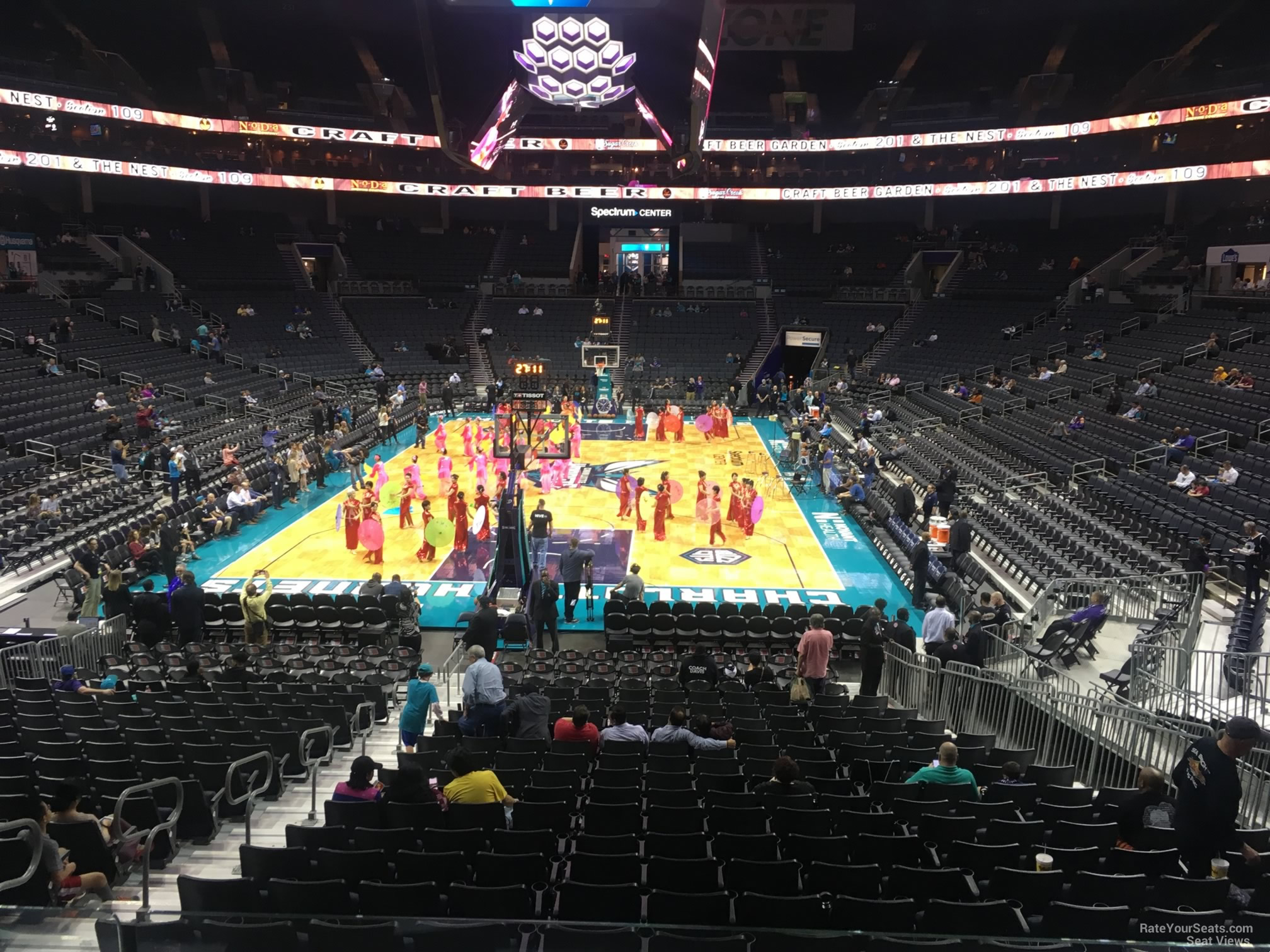 Spectrum Center Section 109 Row Q on 2 22 2018f