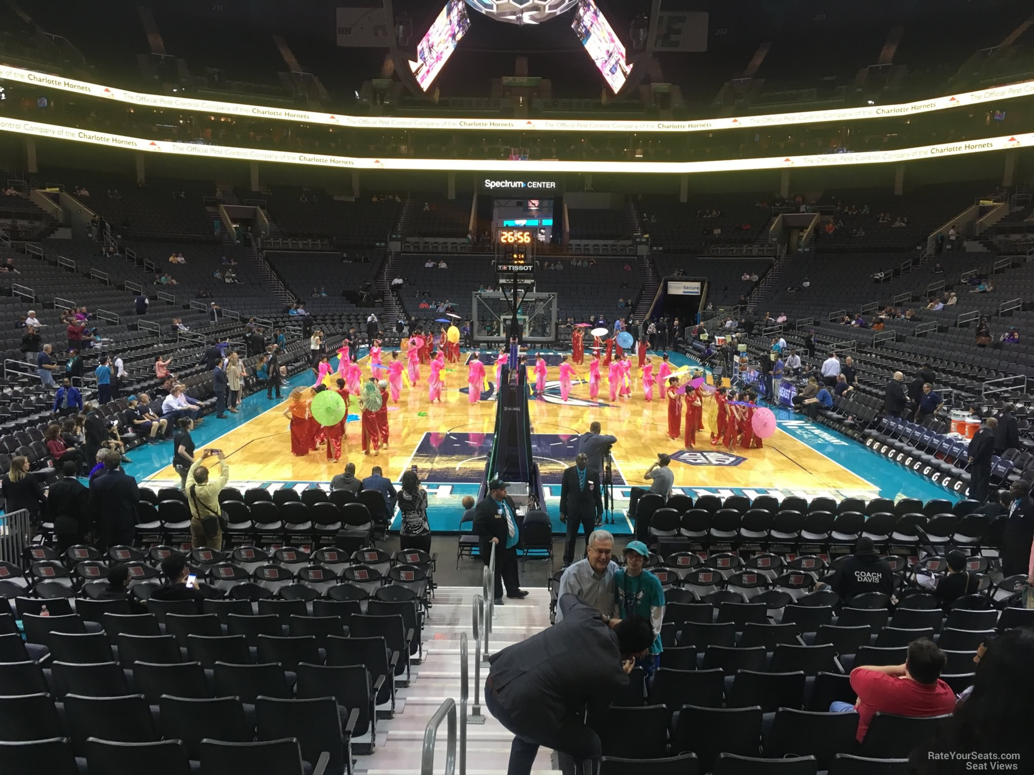Spectrum Center Section 109 on 2 22 2018f