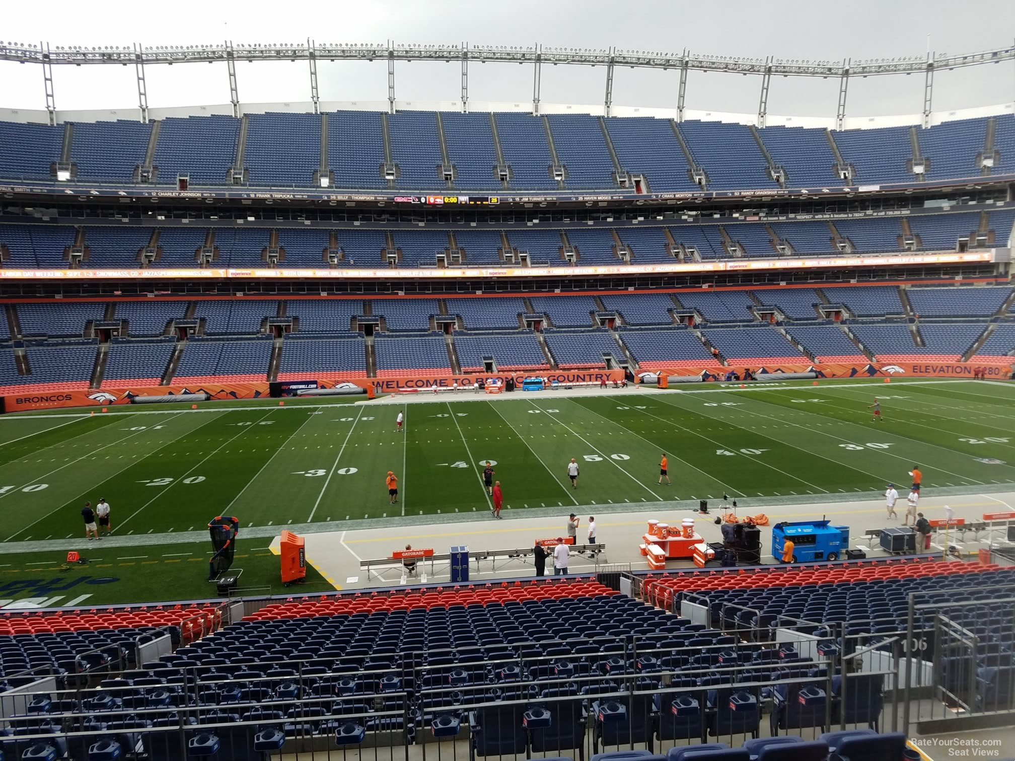Seat View for Sports Authority Field Section 106