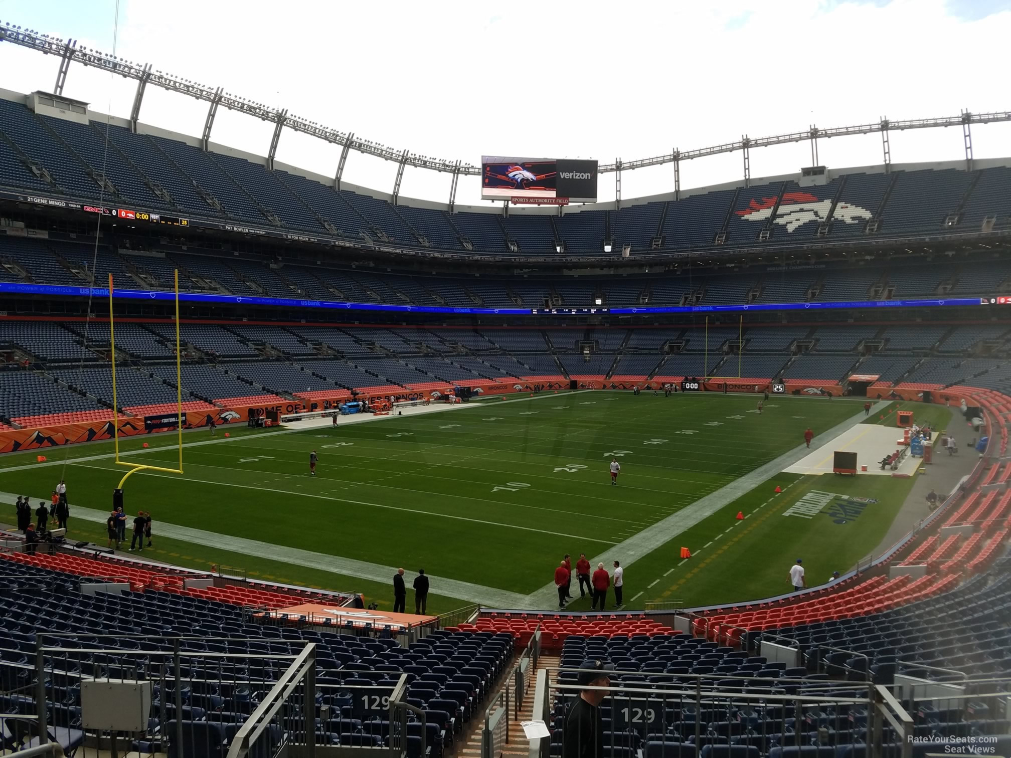 Seat View for Sports Authority Field Section 129