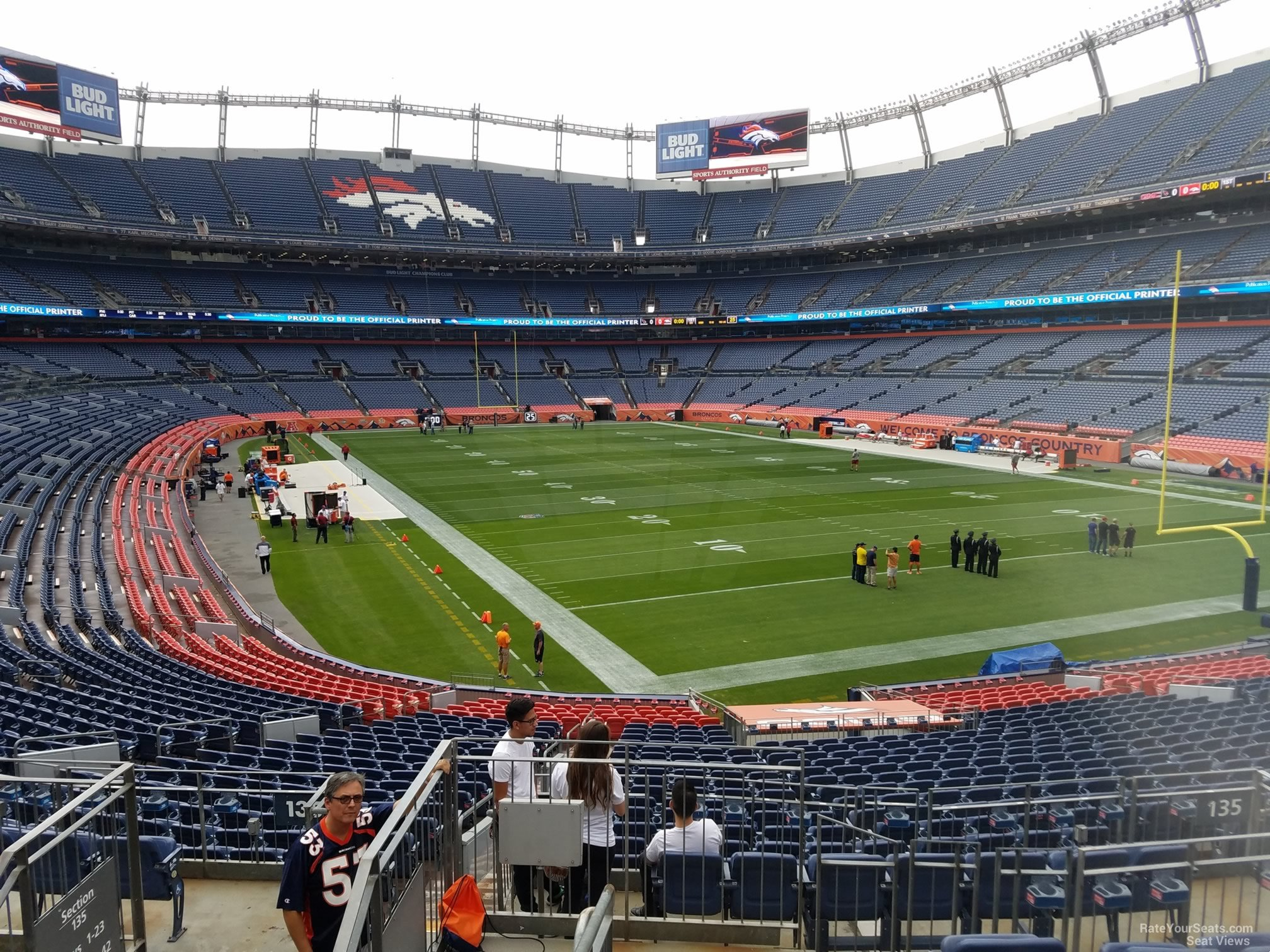 Seat View for Sports Authority Field Section 135 Row 30