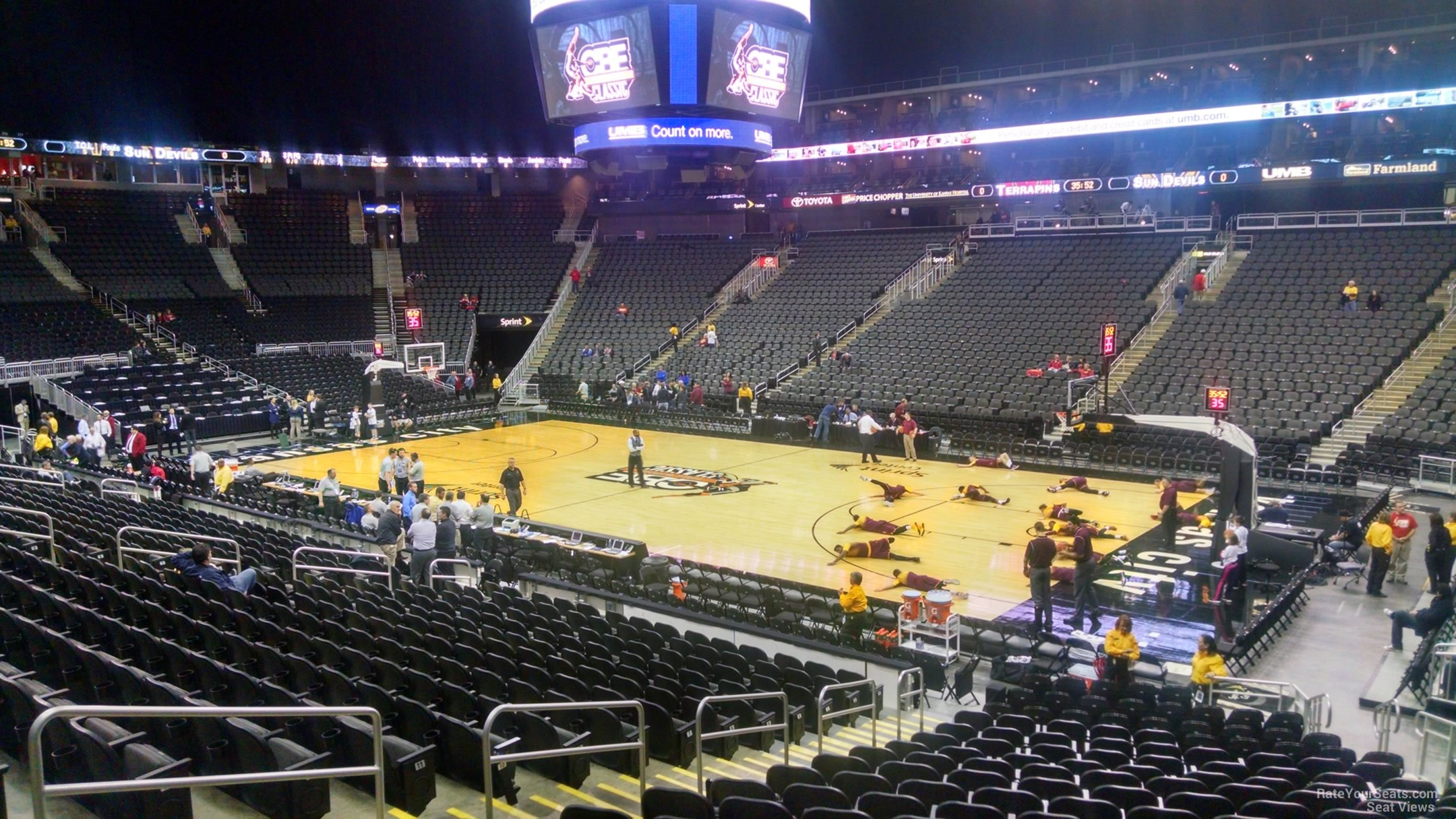 Seat View For Sprint Center Section 104