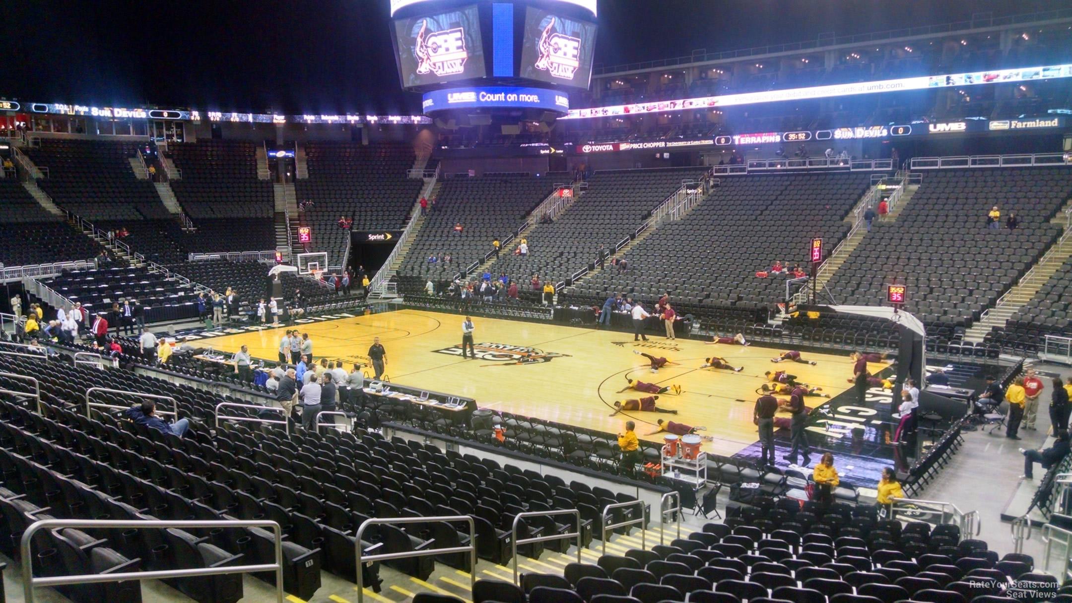 Sprint Center Kansas City Basketball Seating