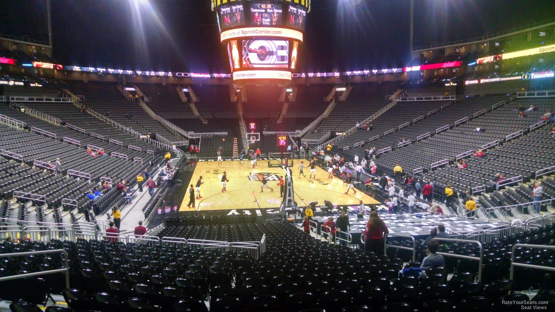 Seat View for Sprint Center Section 112