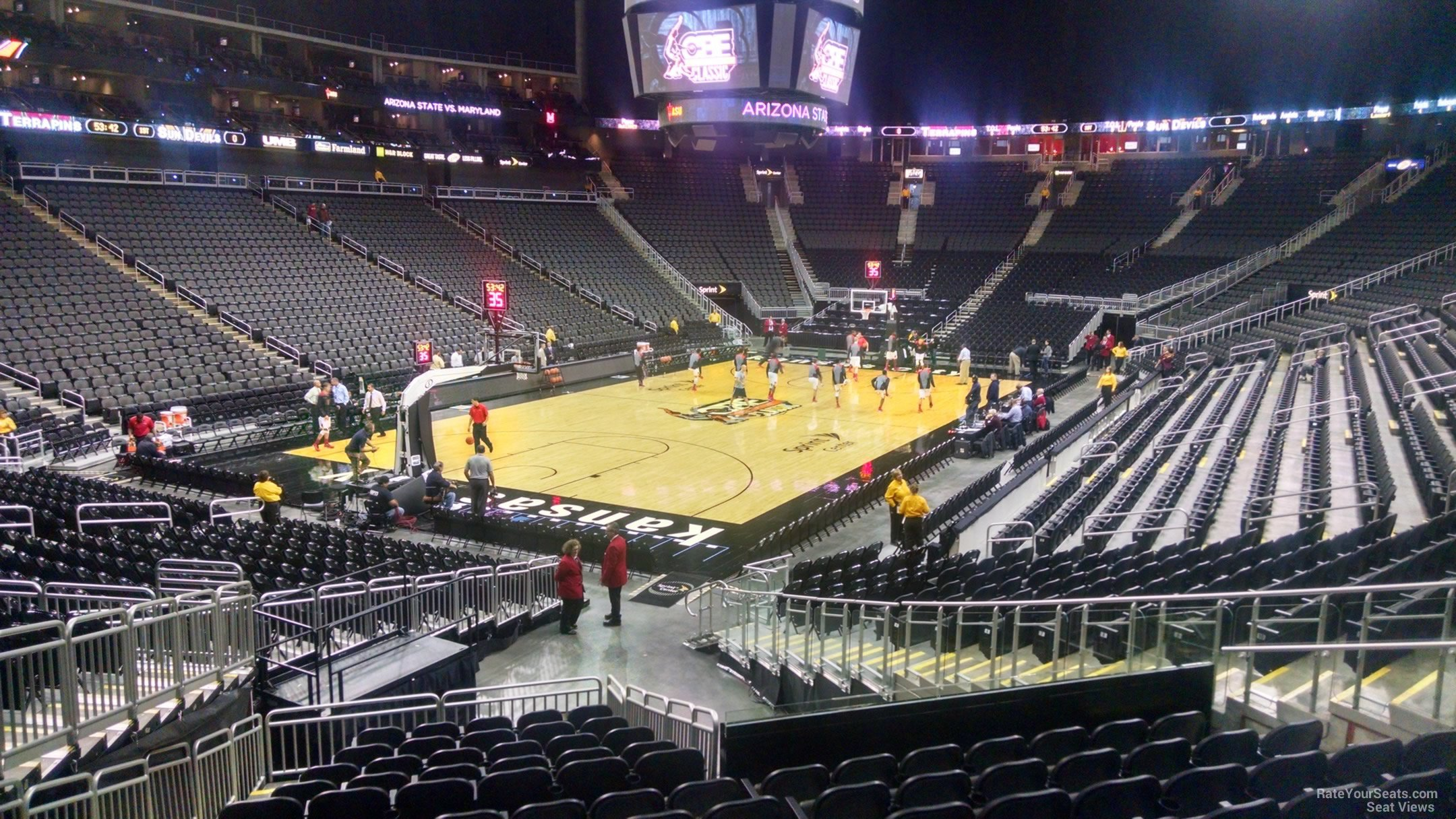 Seat View For Sprint Center Section 120