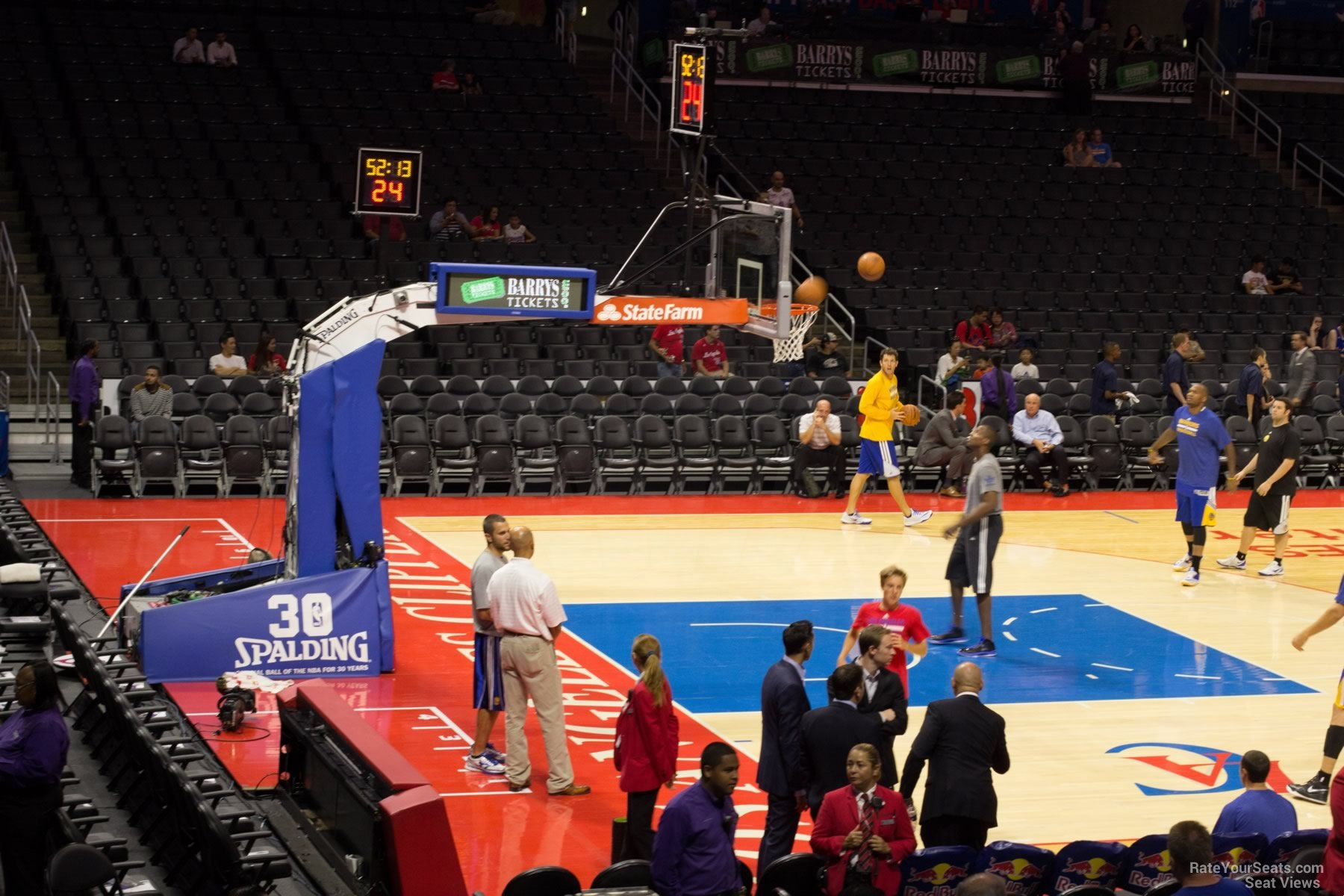 Main Concourse Corner Staples Center Basketball Seating