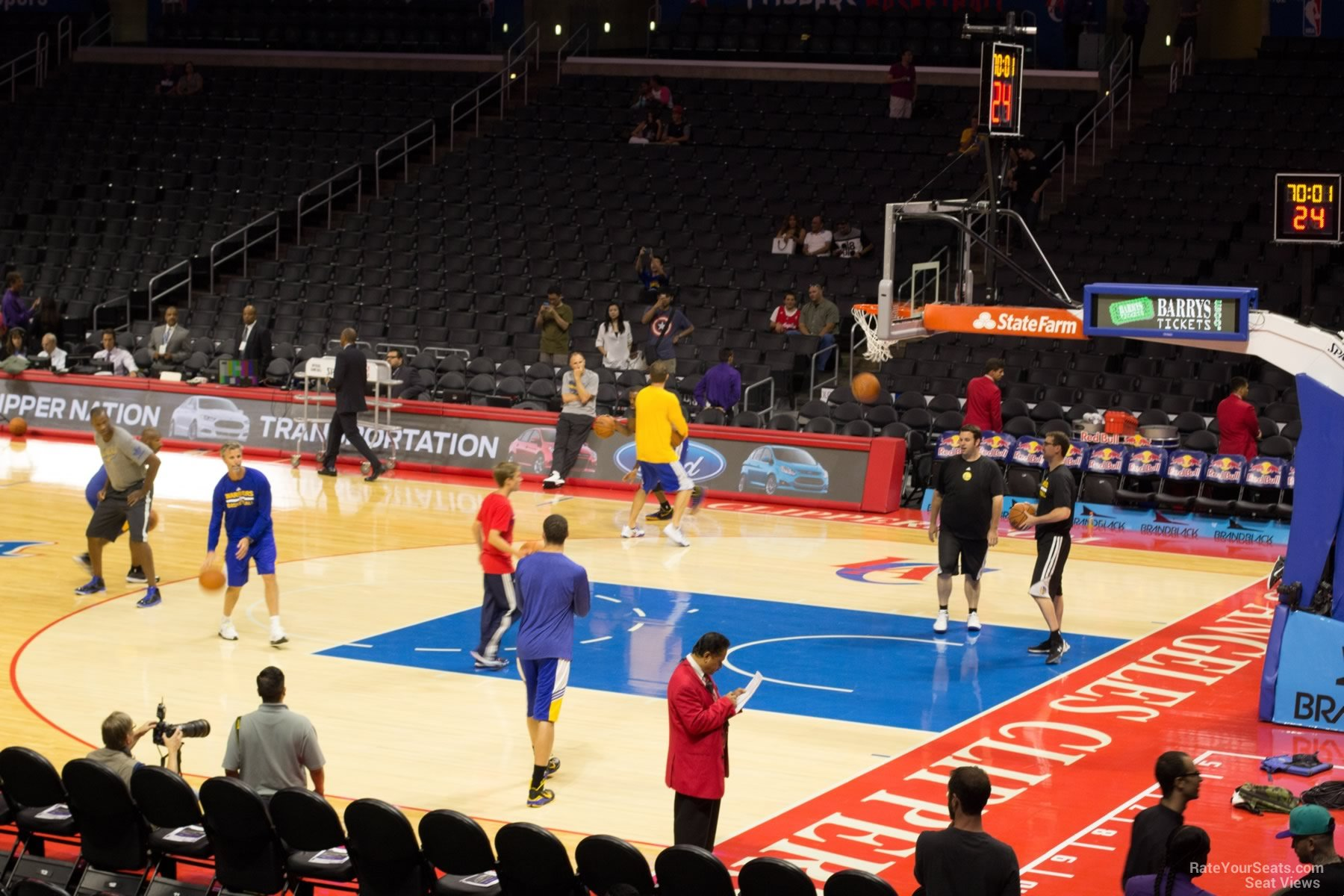 Basketball Seat View for Staples Center Section 109