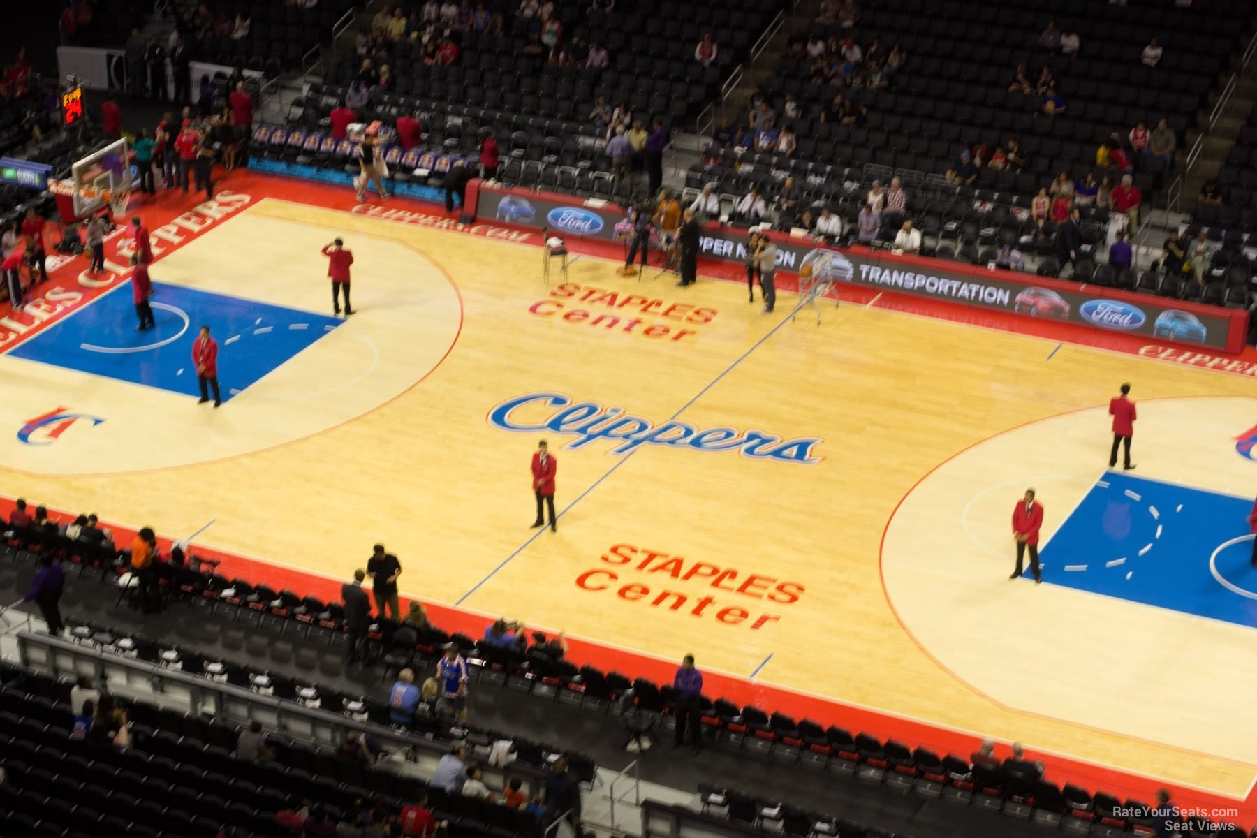 Basketball Seat View for Staples Center Section 316