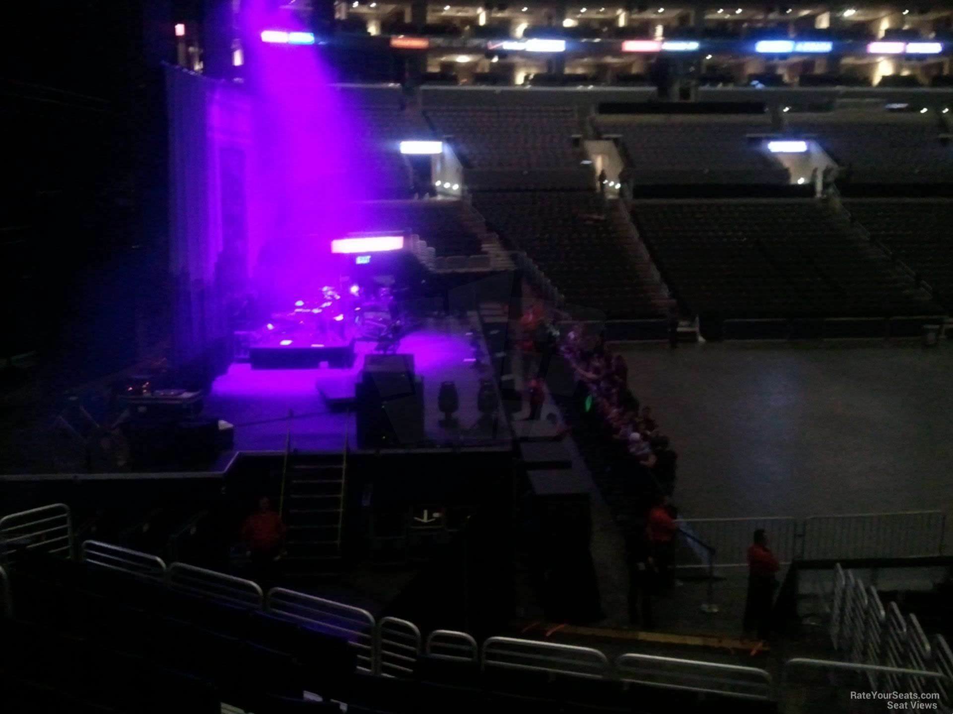 View From Section 114 at Staples Center for a Concert