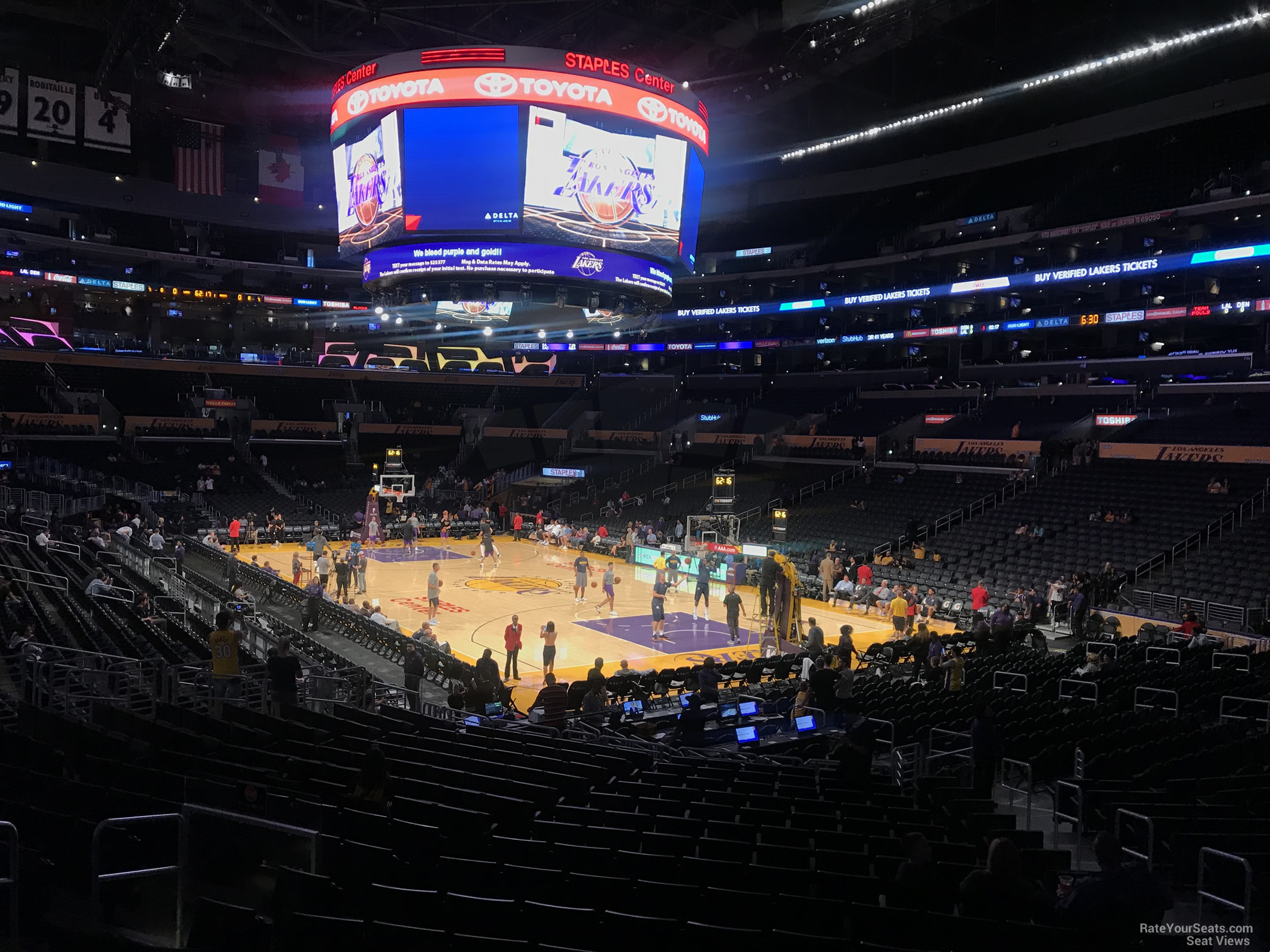Staples Center Lakers Section 108 Row 20 2 on 10 2 2017f