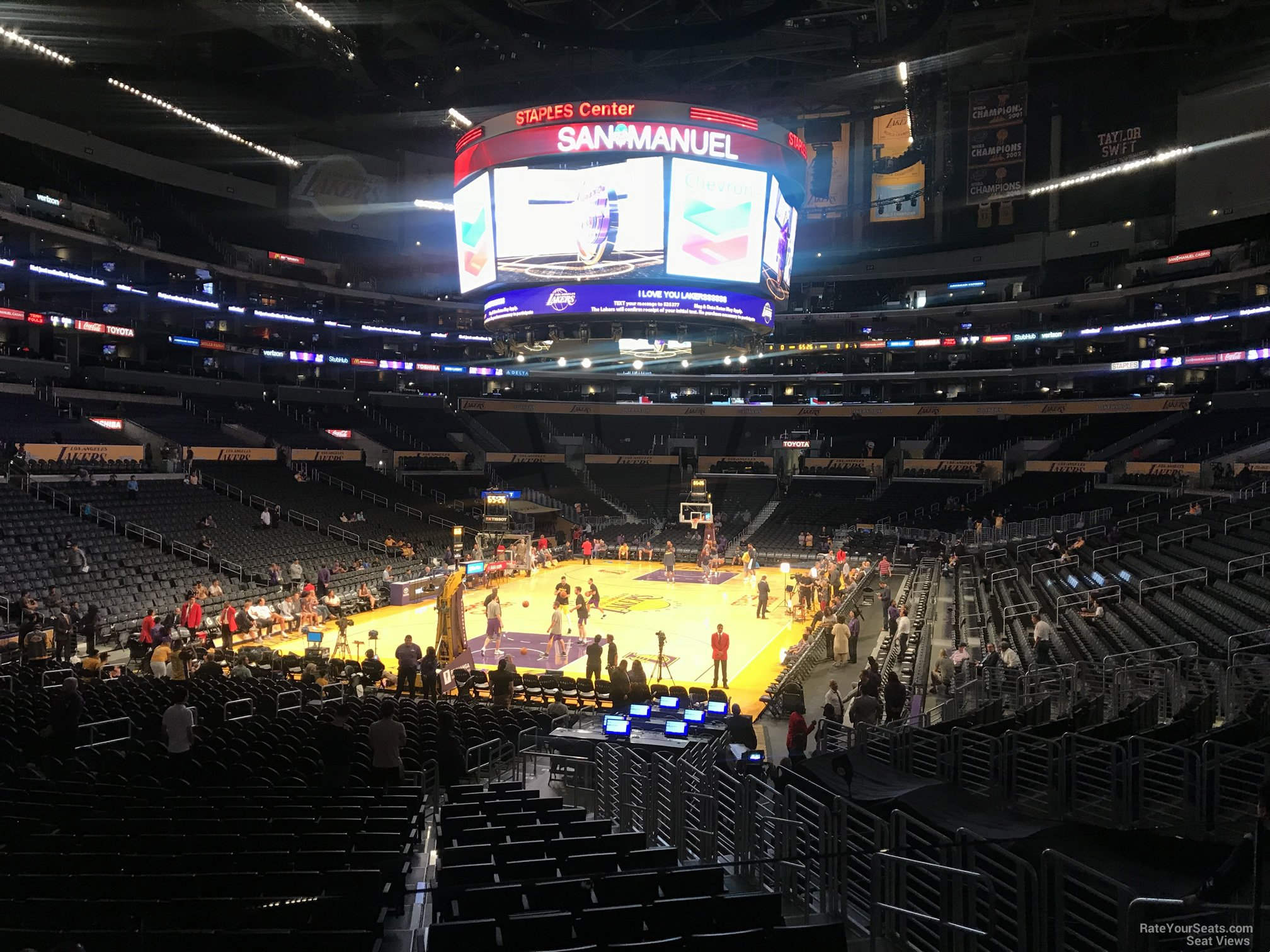 Staples Center Lakers Section 115 Row 20 2 on 10 2 2017f