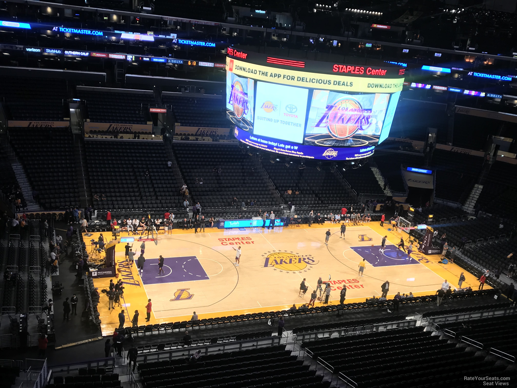 Staples Center Lakers Section 320 Row 1 on 10 2 2017f