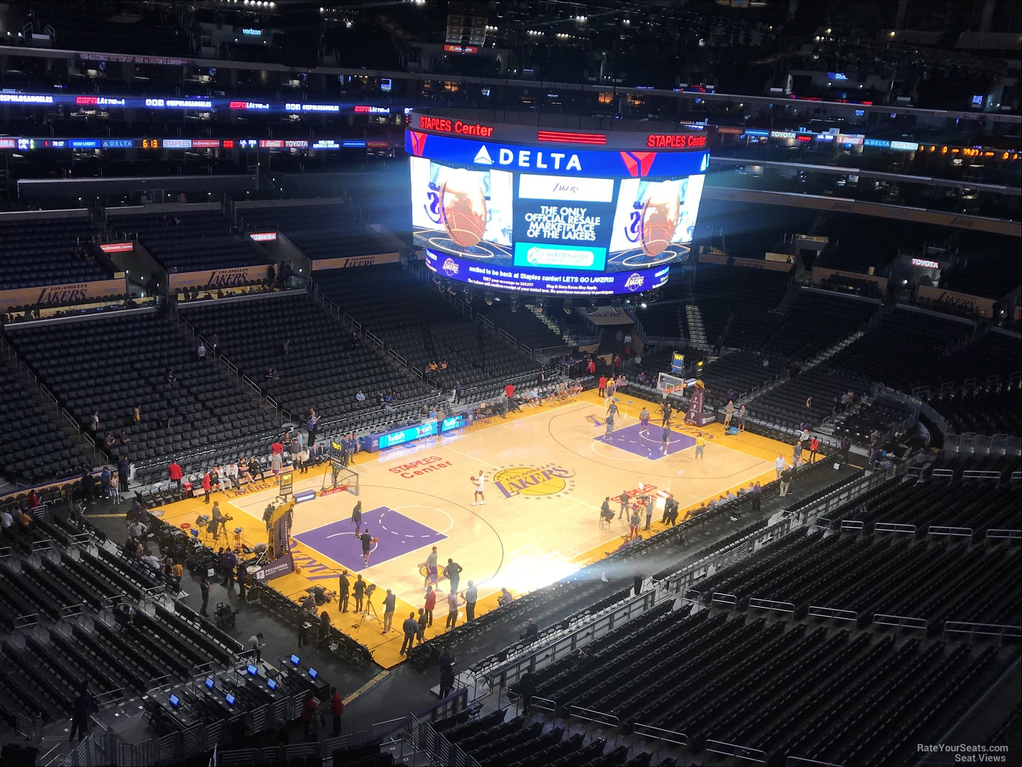 Staples Center Section 322 Clippers Lakers