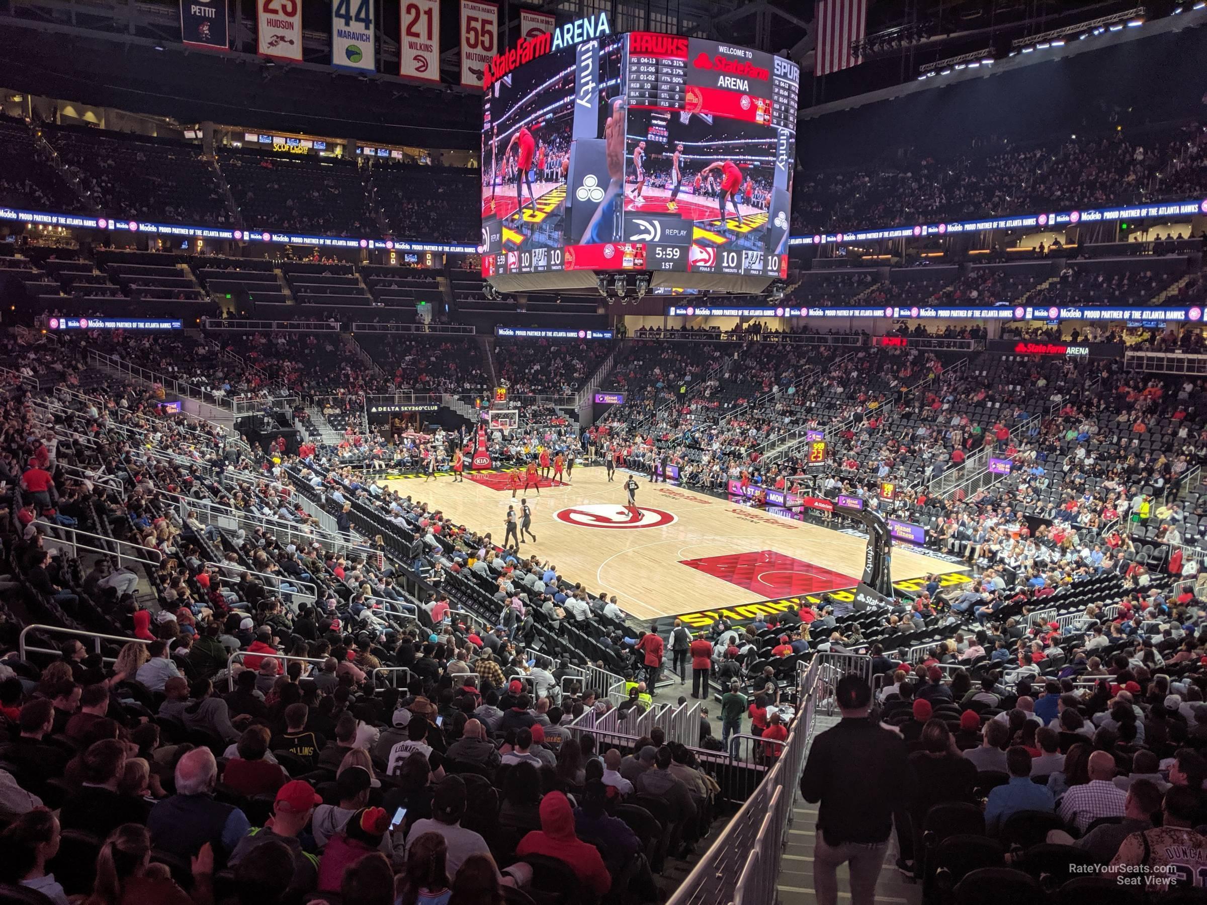 State Farm Arena Section 104 - Atlanta Hawks ...