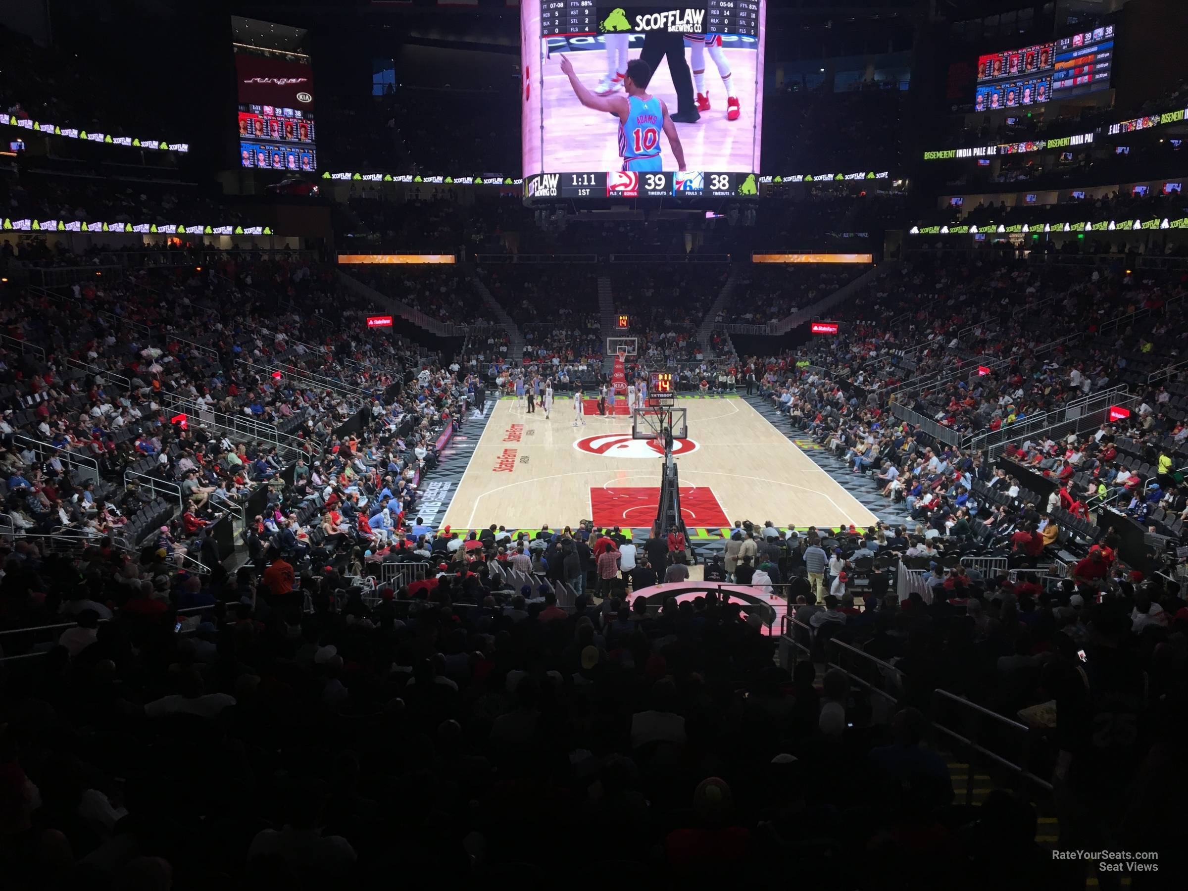 State Farm Arena Section 114 Atlanta Hawks