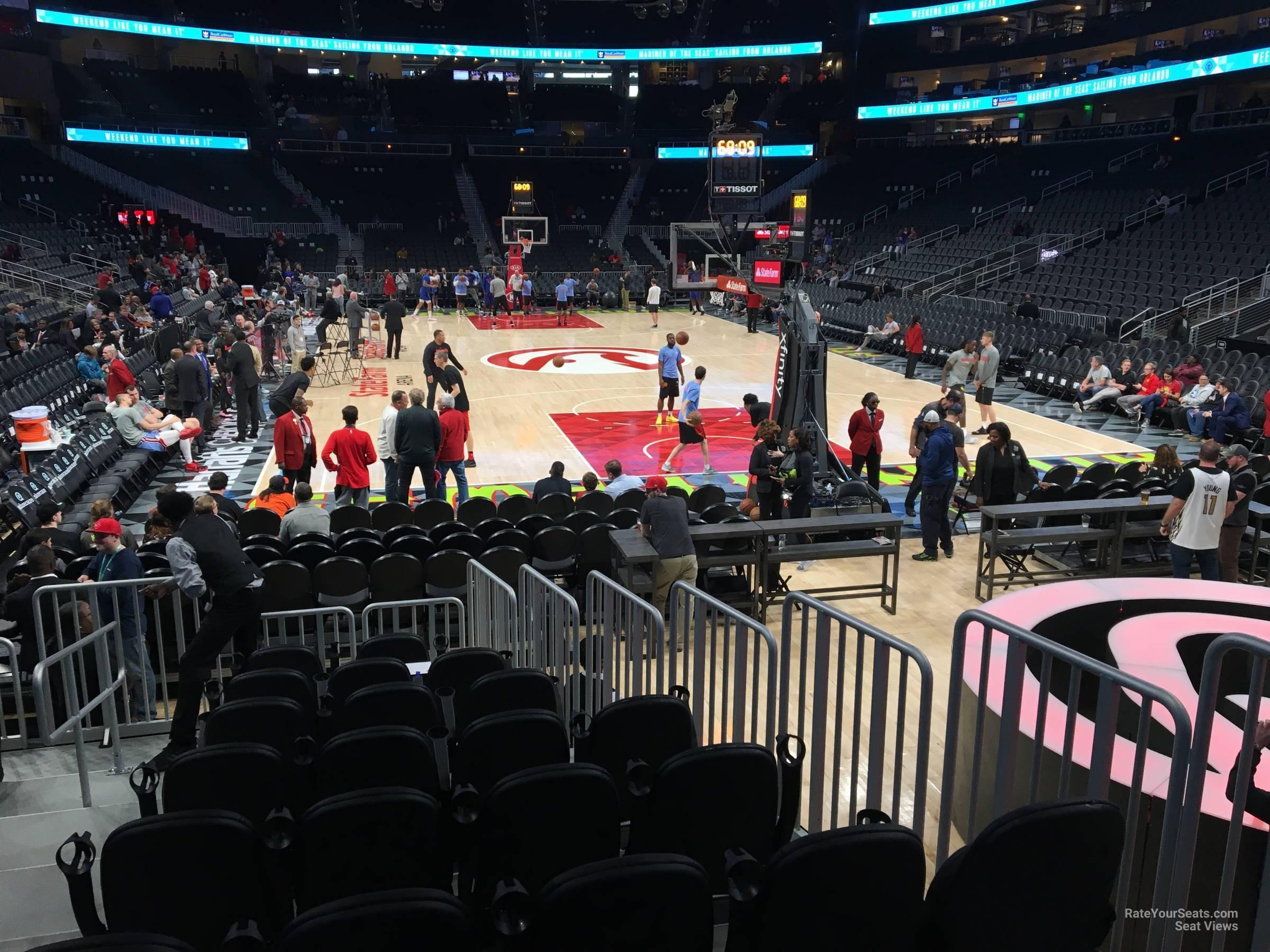 State Farm Arena Section 114l Atlanta Hawks
