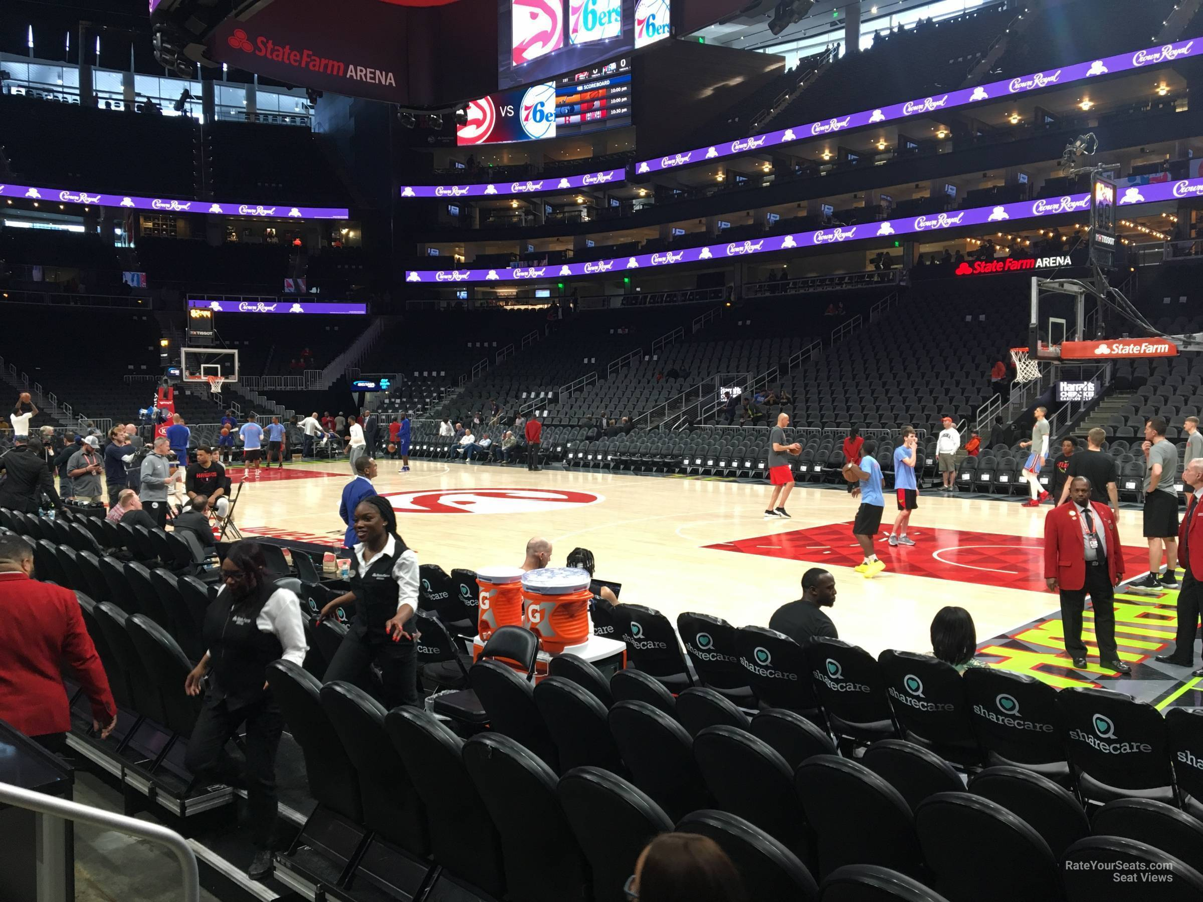 Seat View for State Farm Arena Floor 8, Row DDD