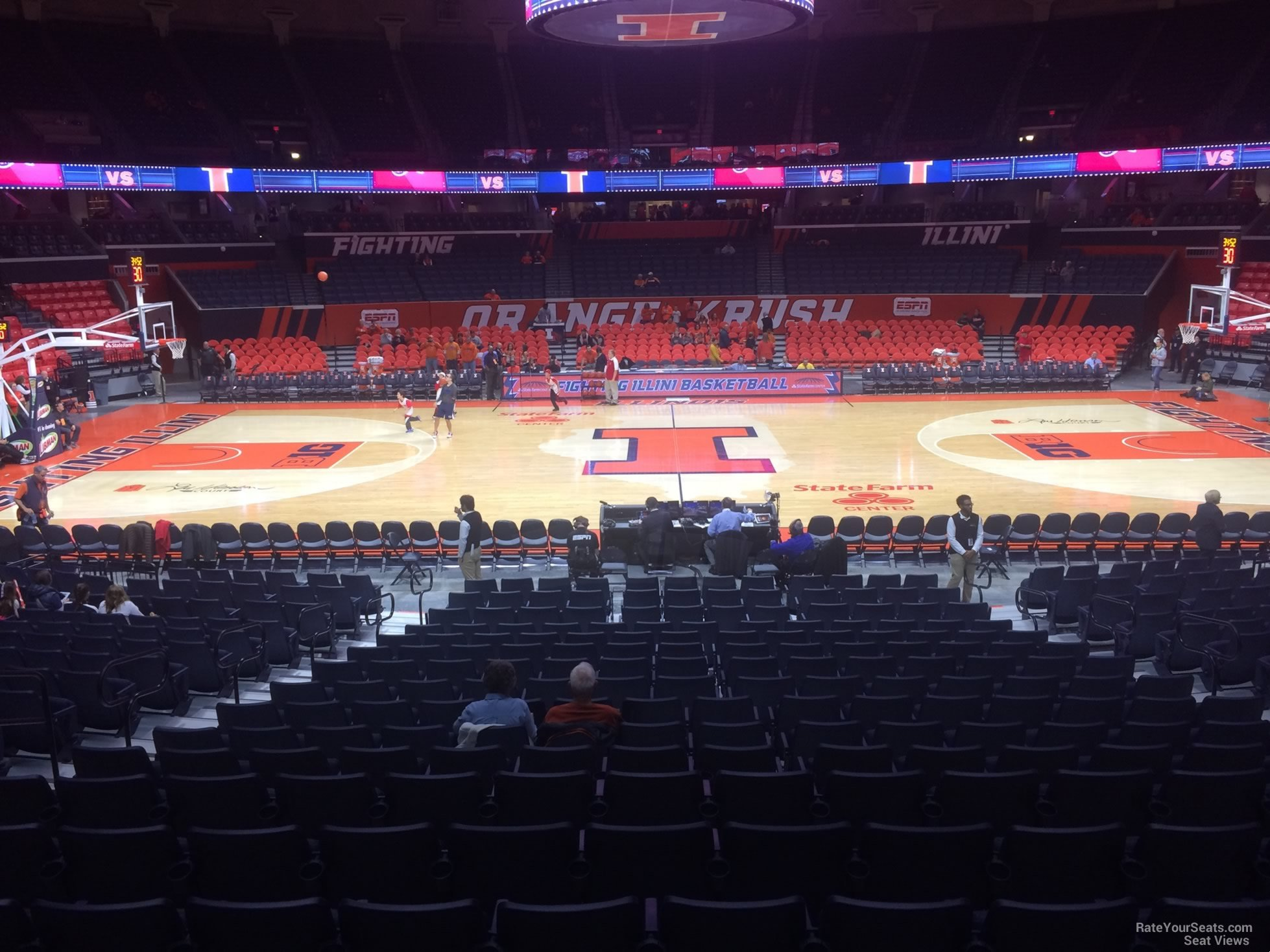 Seat View for State Farm Center Section 101, Row 16