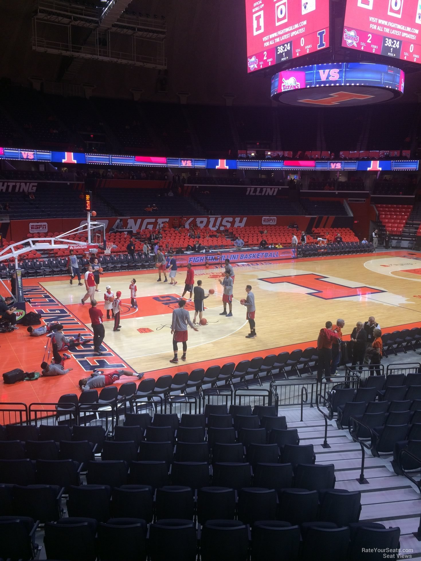 Seat View for State Farm Center Section 103, Row 13