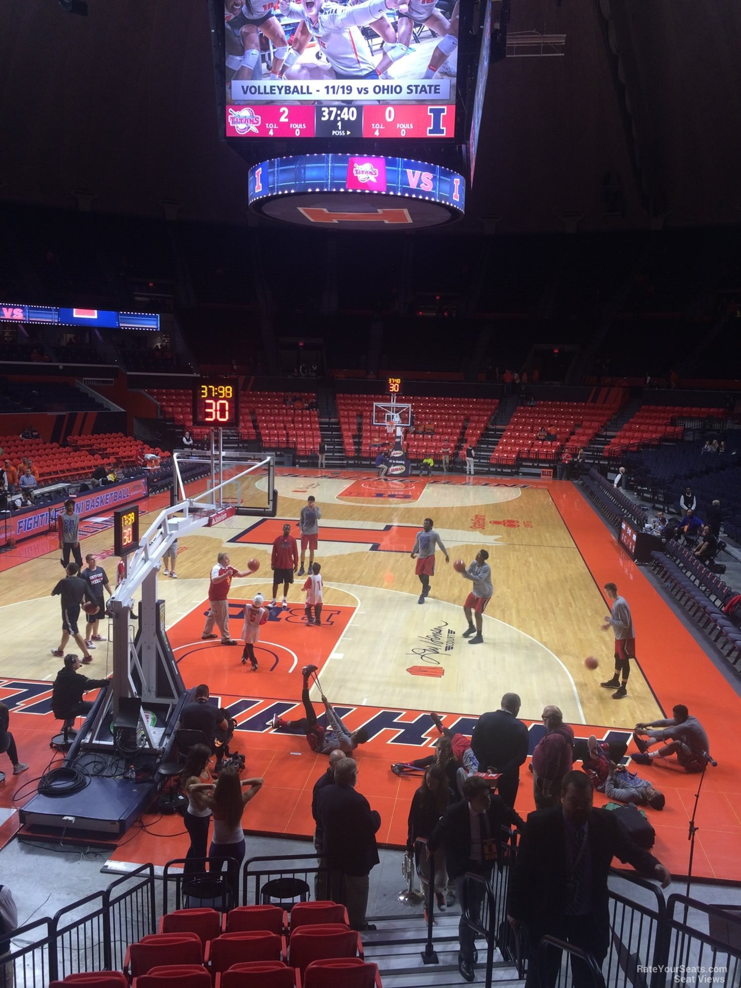 Seat View for State Farm Center Section 106, Row 10