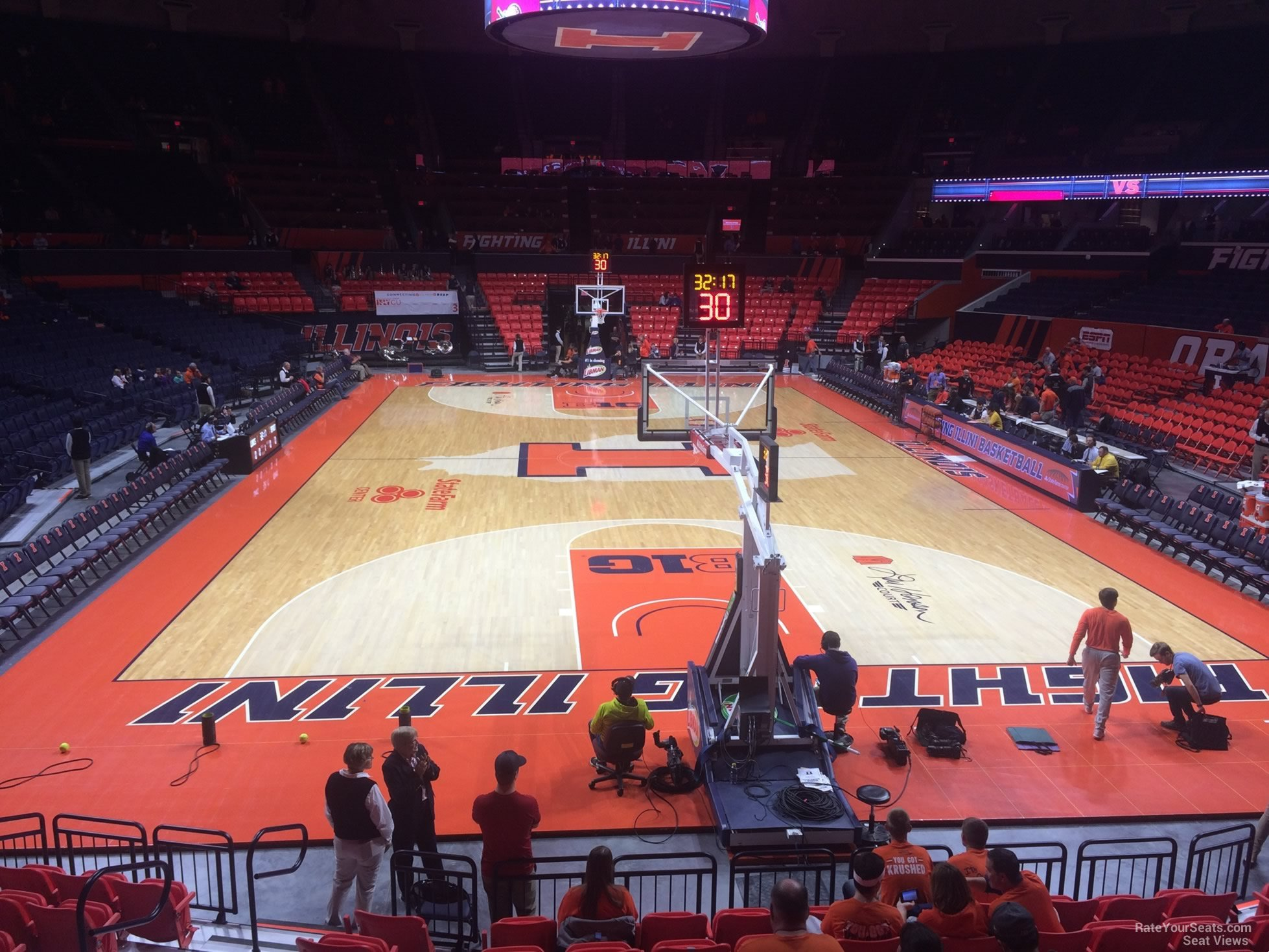 Seat View for State Farm Center Section 116, Row 10