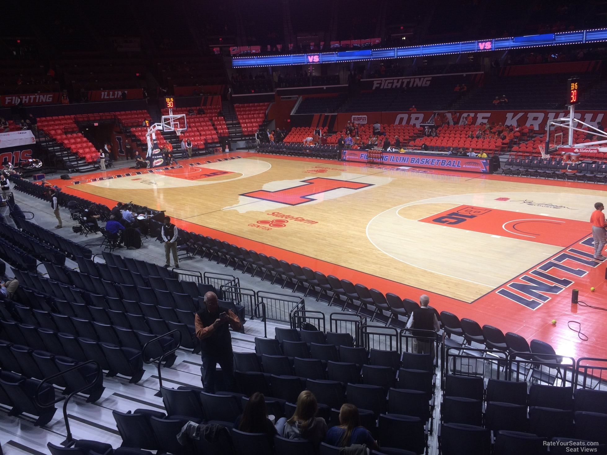Seat View for State Farm Center Section 119, Row 13