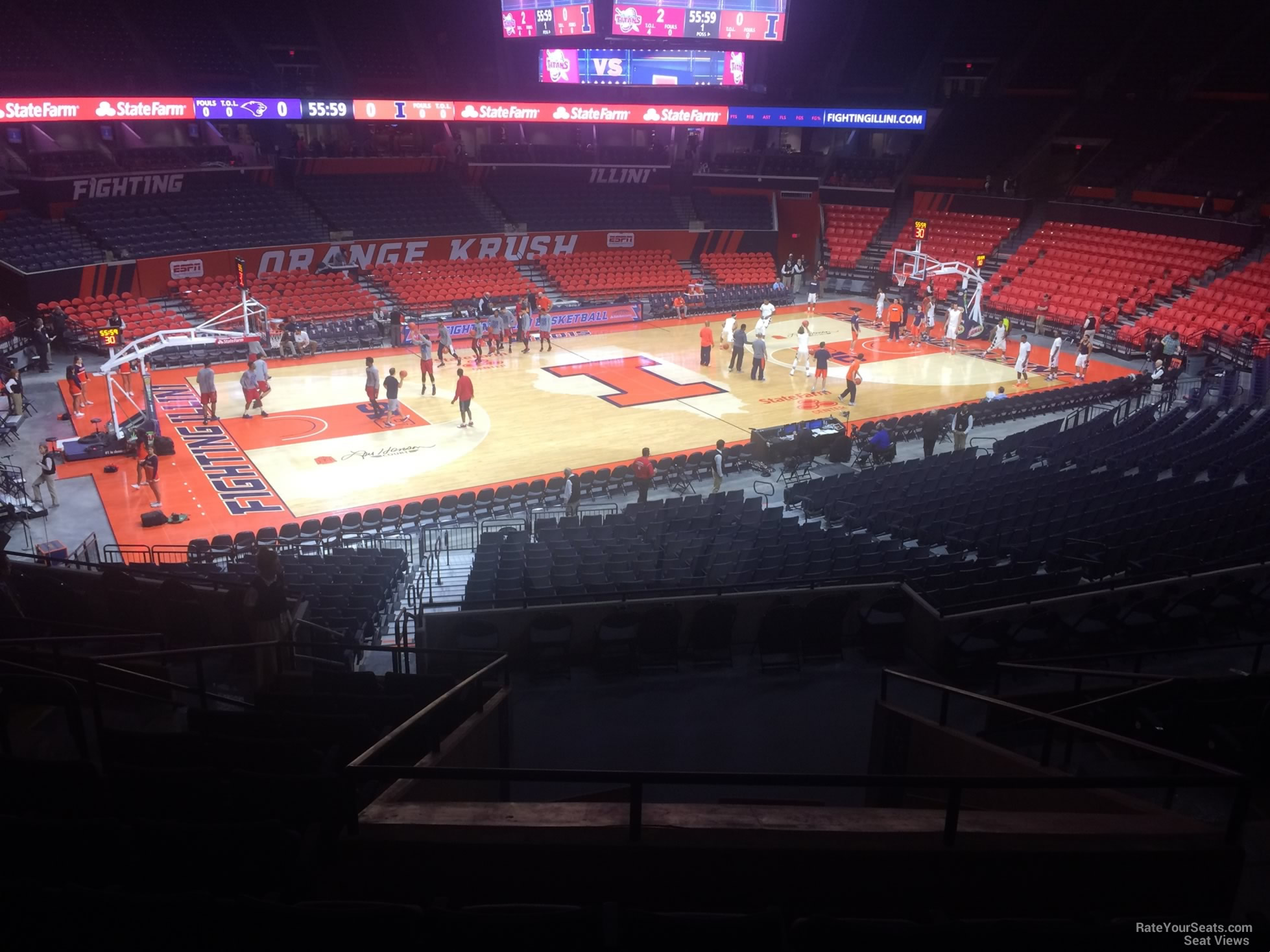 Seat View for State Farm Center Section 123, Row 11