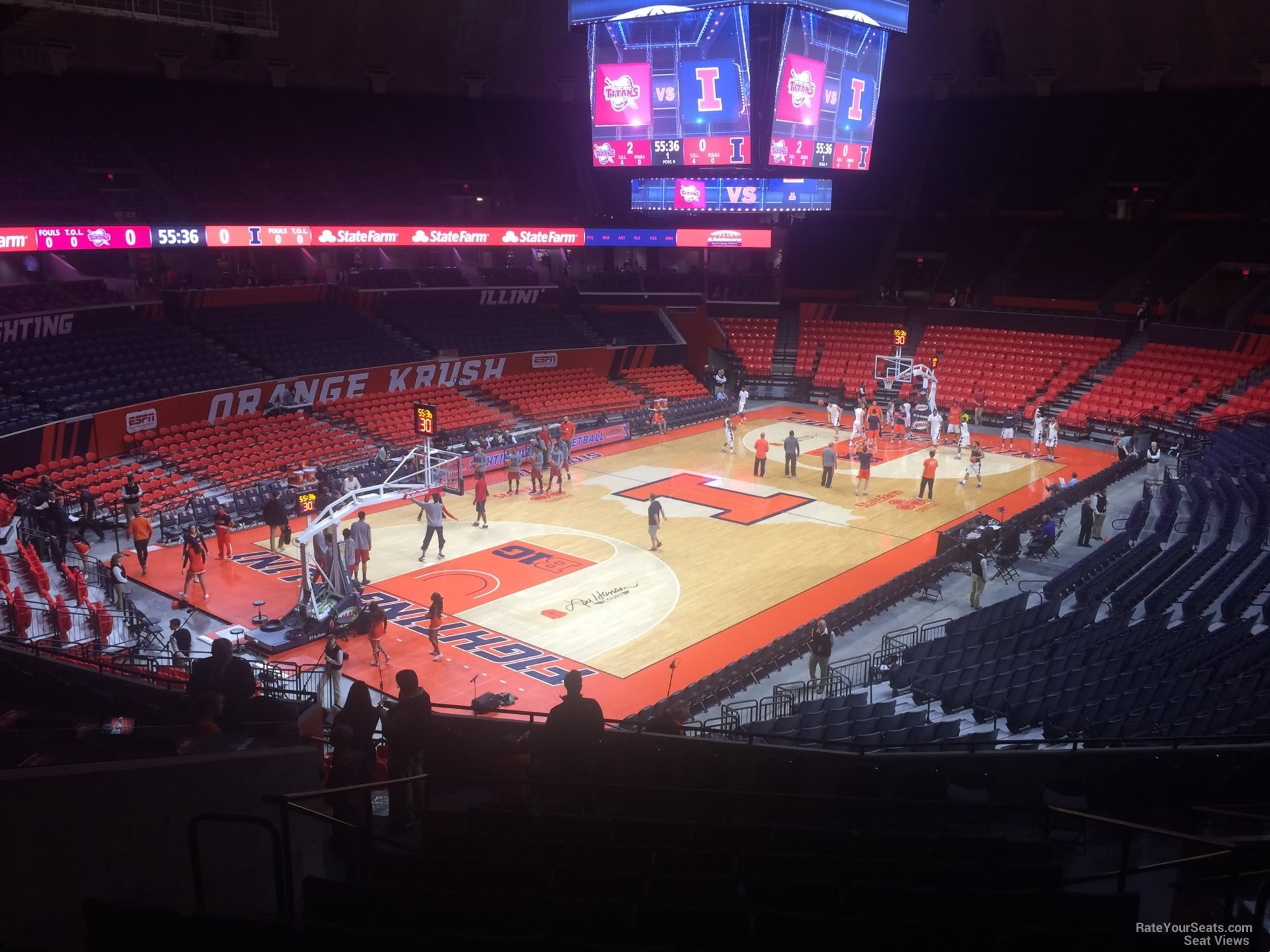 Seat View for State Farm Center Section 125, Row 11