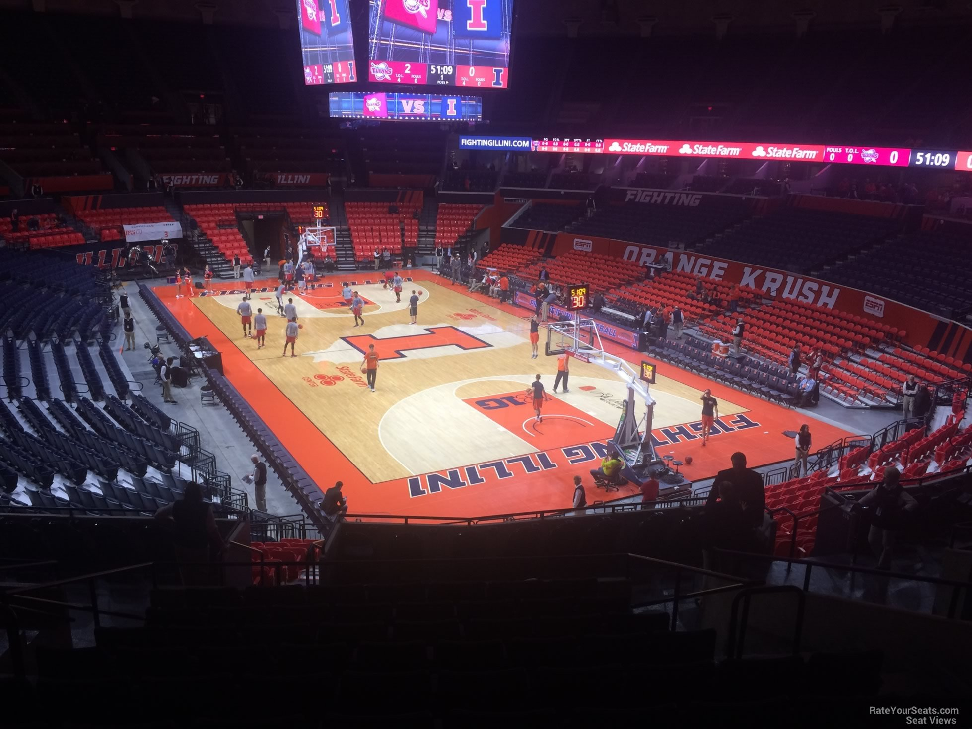 Seat View for State Farm Center Section 138, Row 11