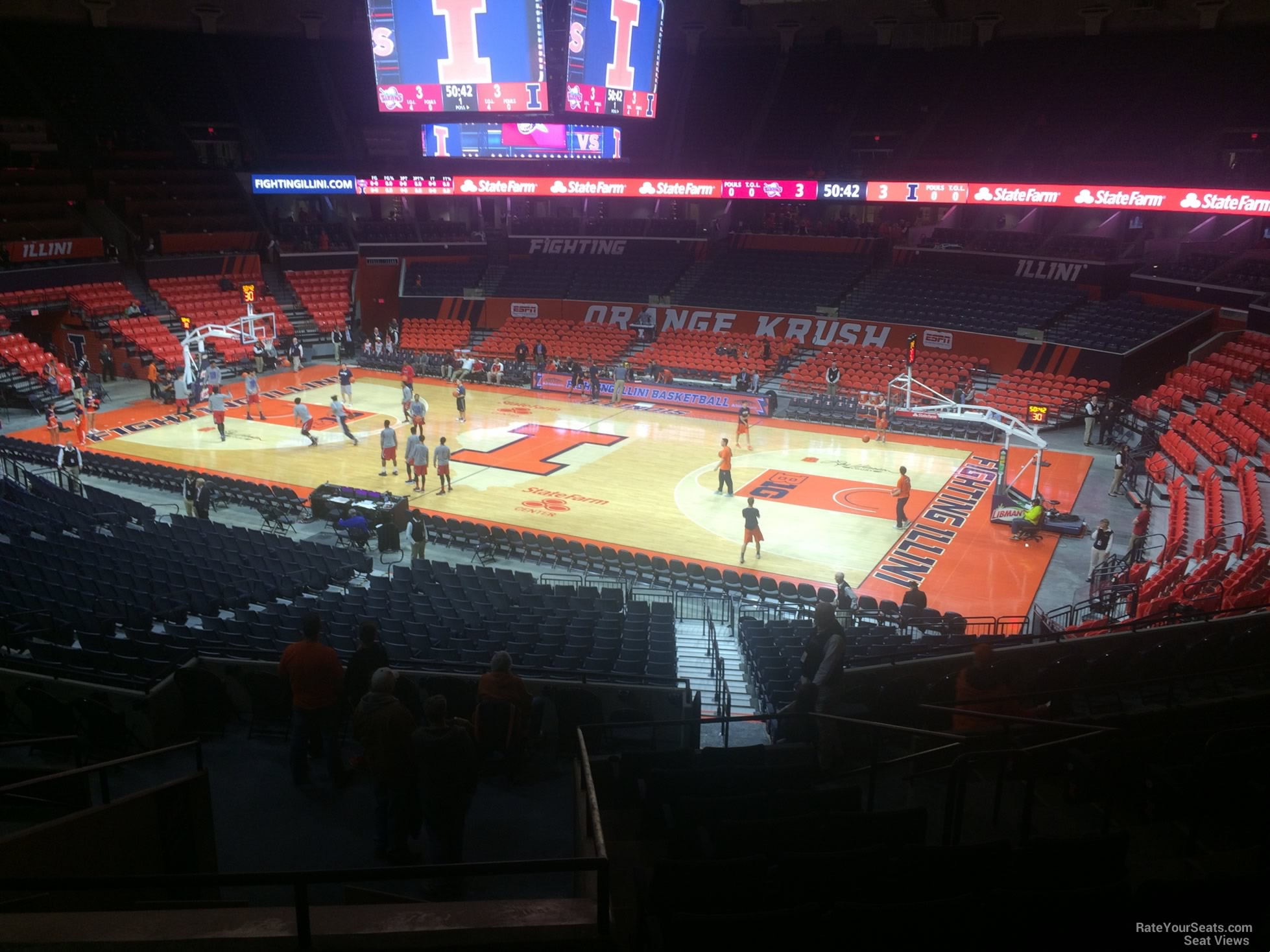 Seat View for State Farm Center Section 141, Row 11