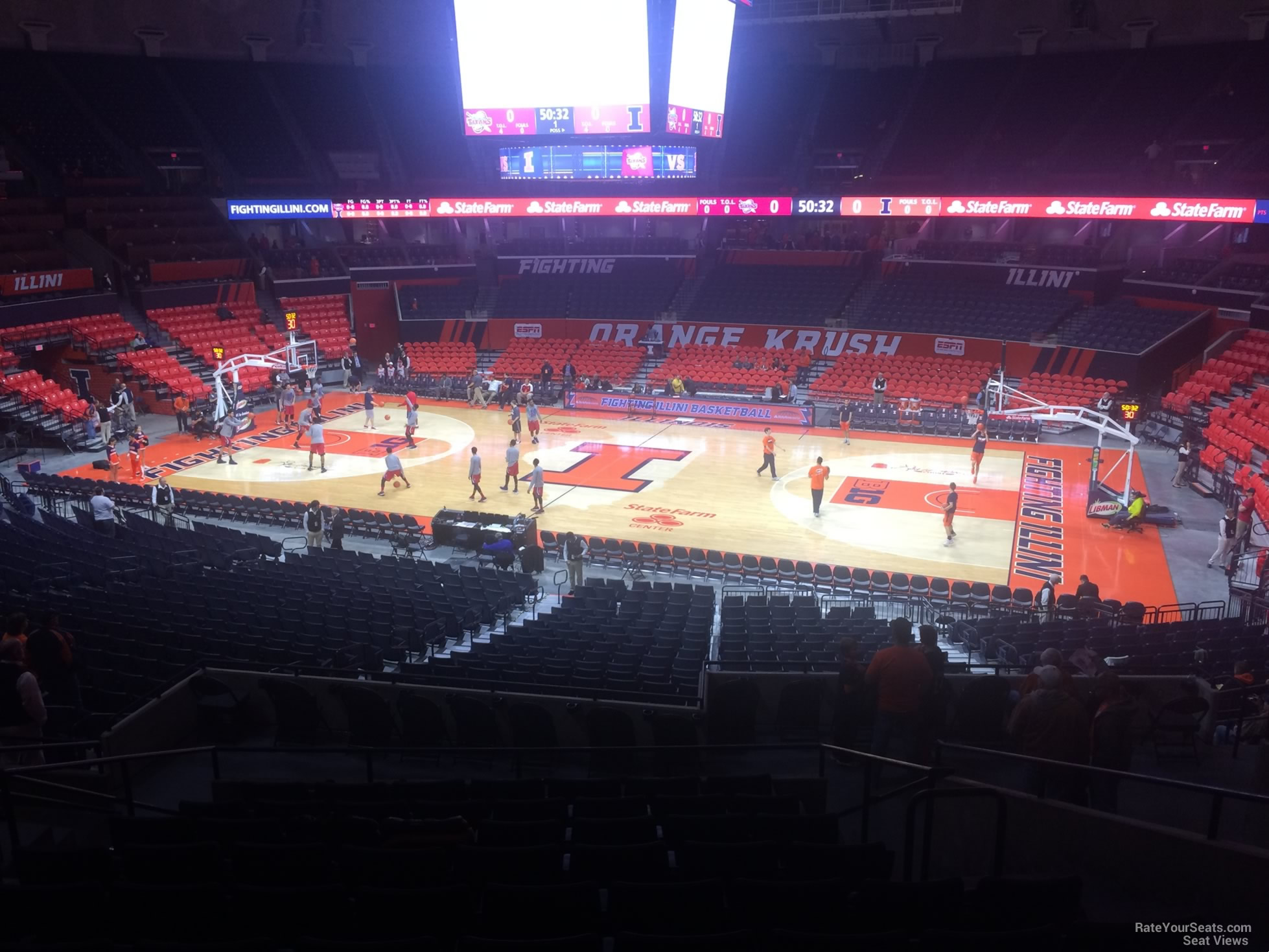 Seat View for State Farm Center Section 142, Row 11