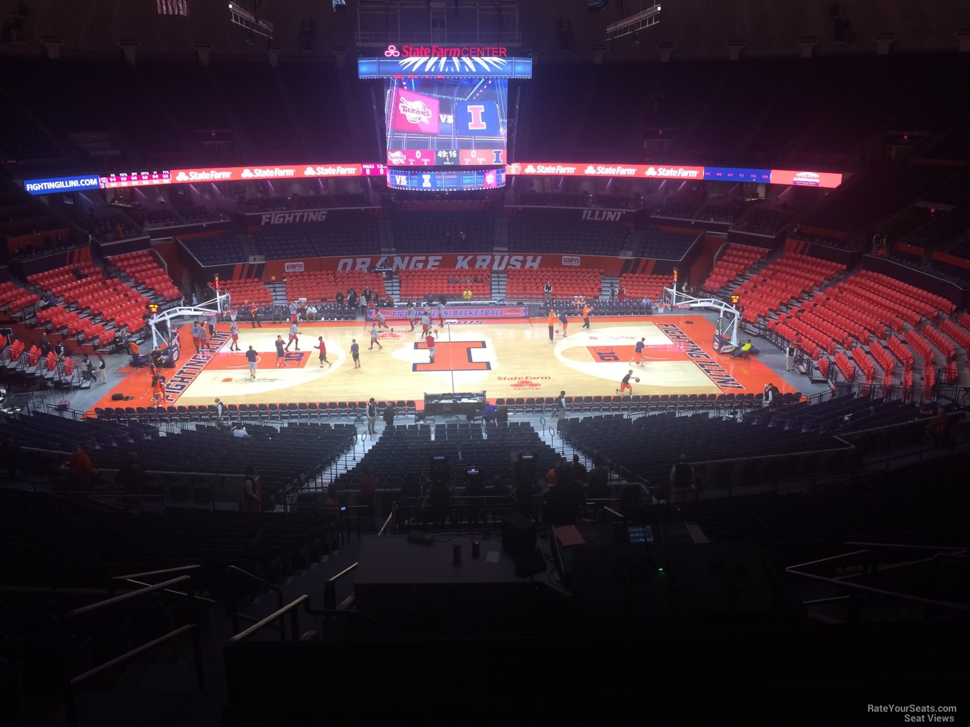 Seat View for State Farm Center Section 201, Row 10