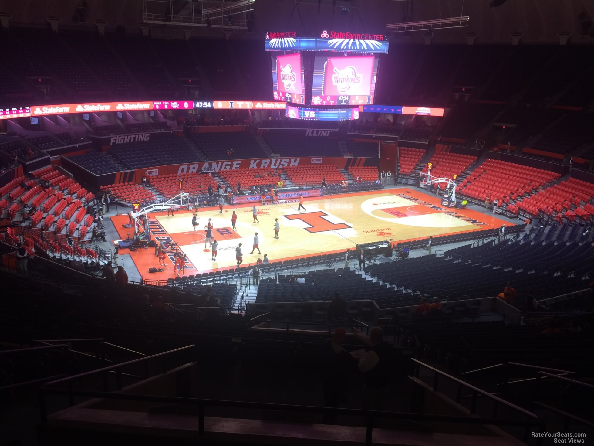 Seat View for State Farm Center Section 205, Row 10