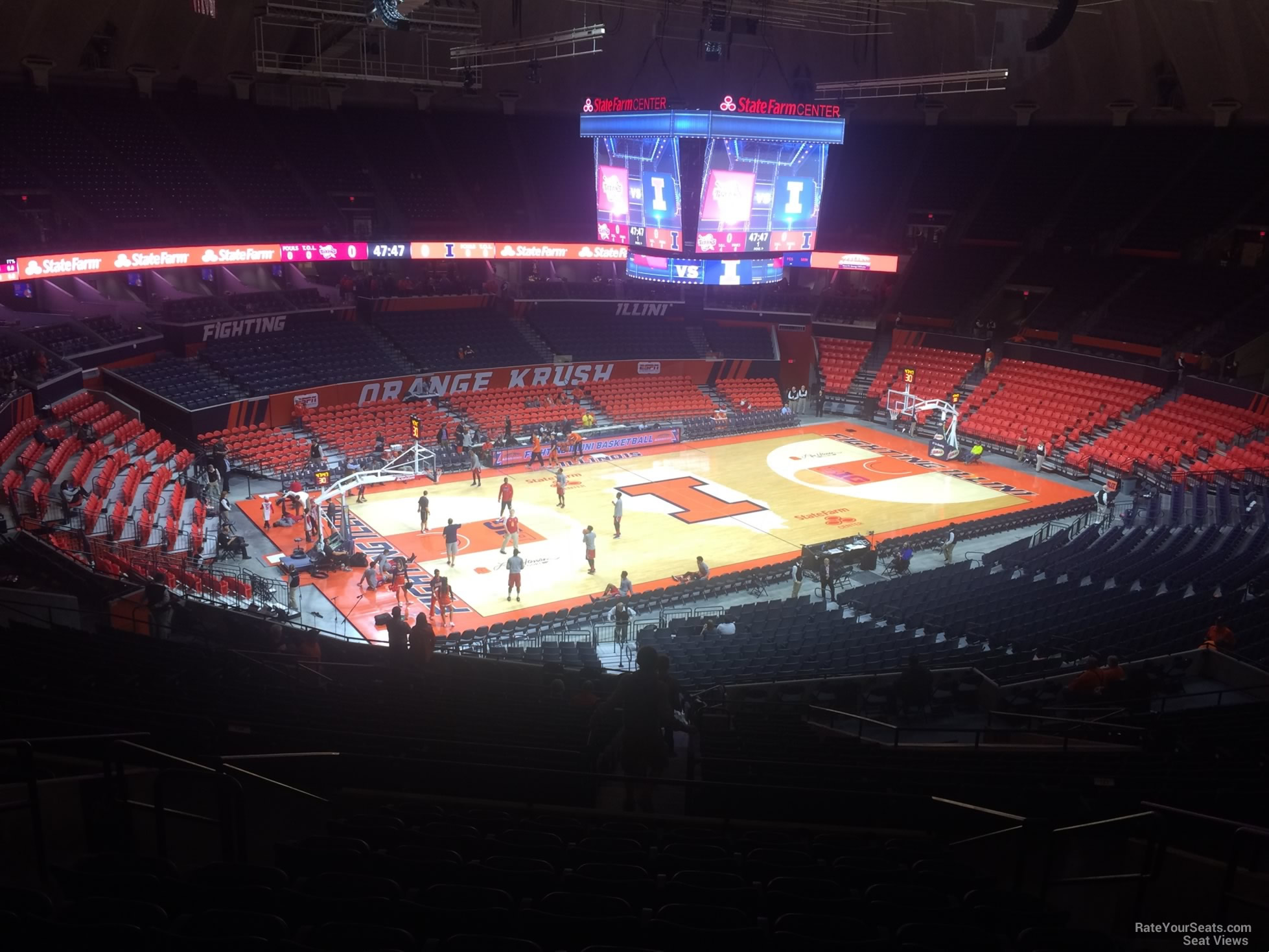 Seat View for State Farm Center Section 206, Row 10