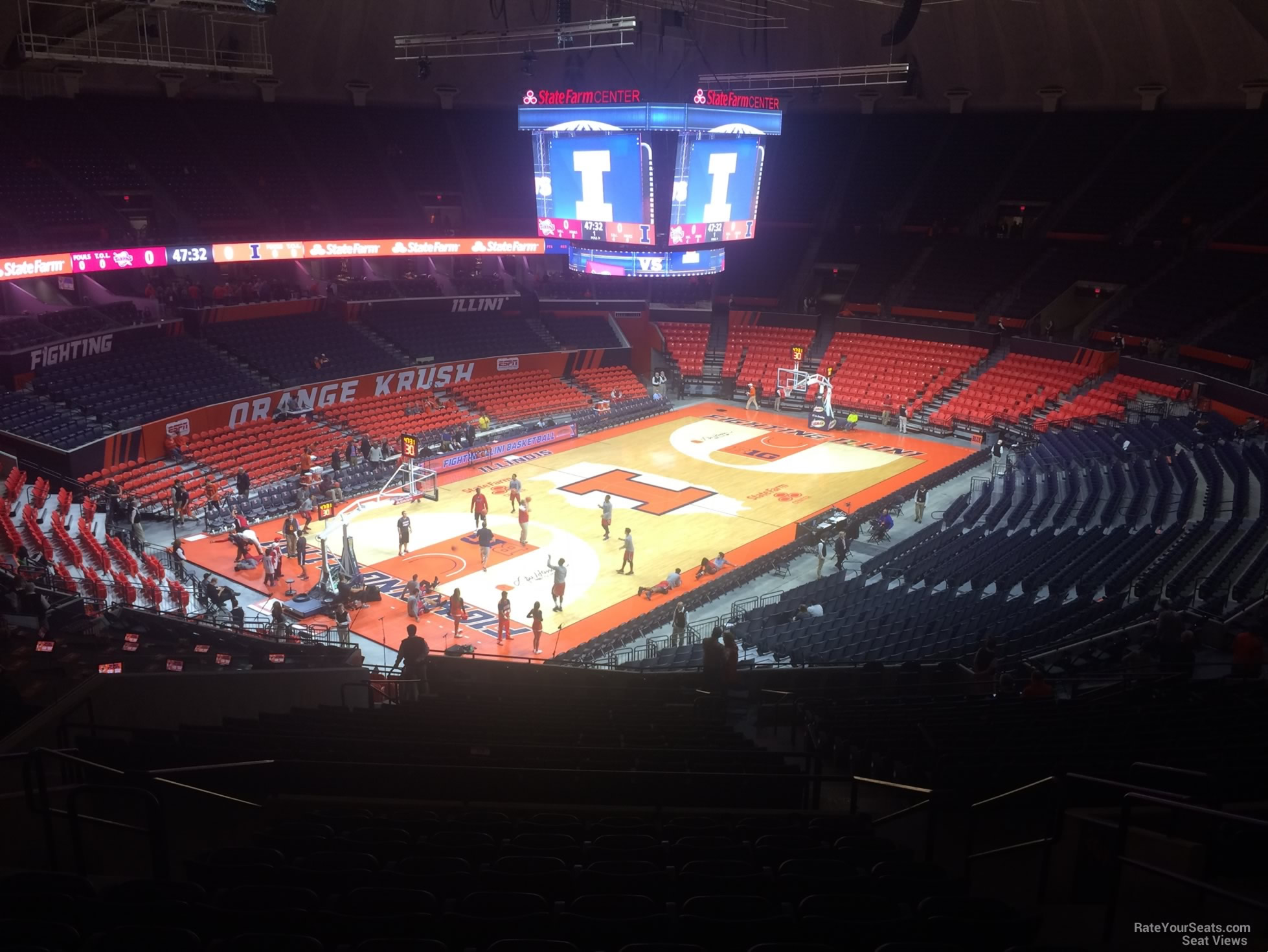 Seat View for State Farm Center Section 208, Row 10