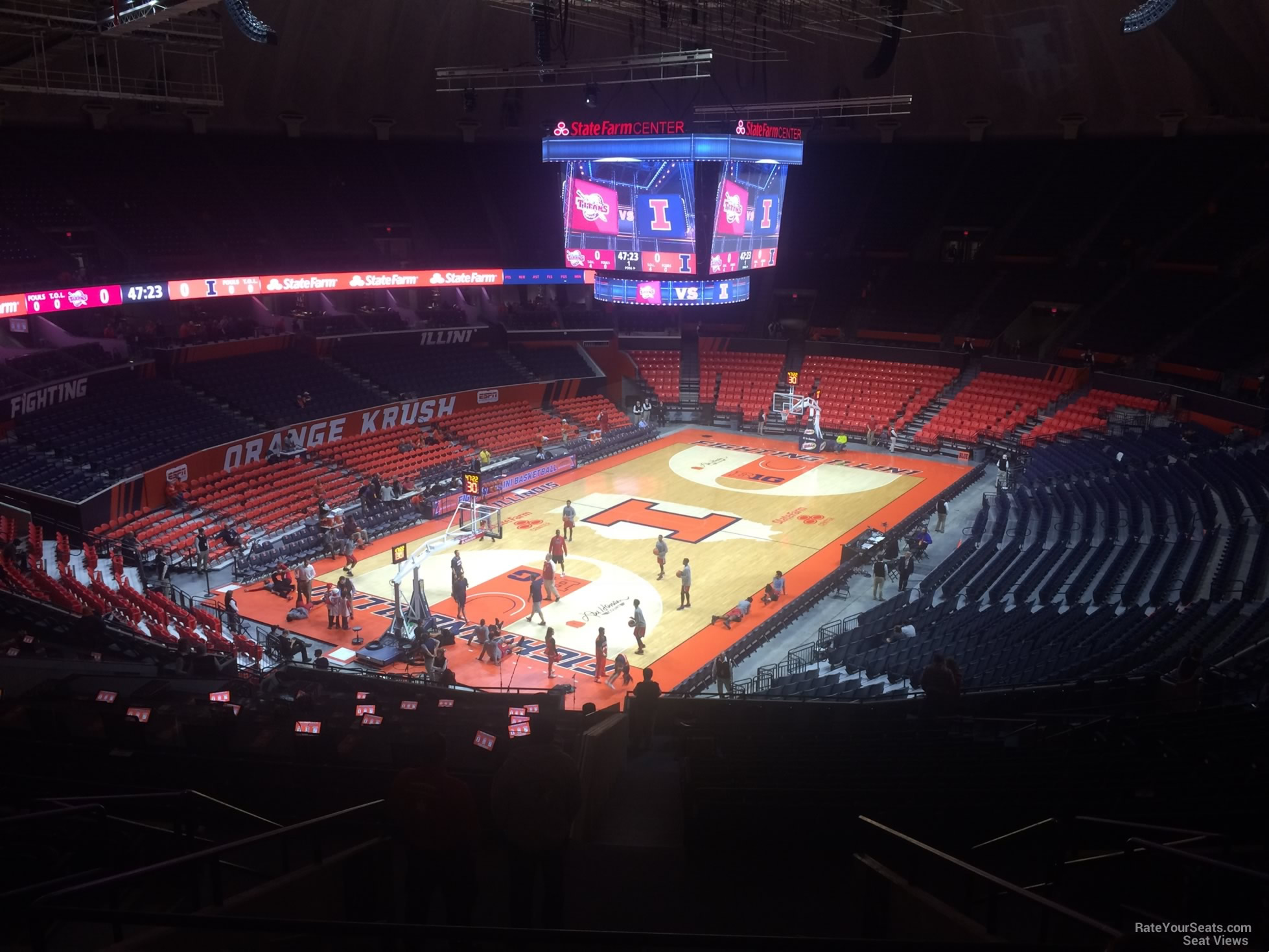 Seat View for State Farm Center Section 209, Row 10