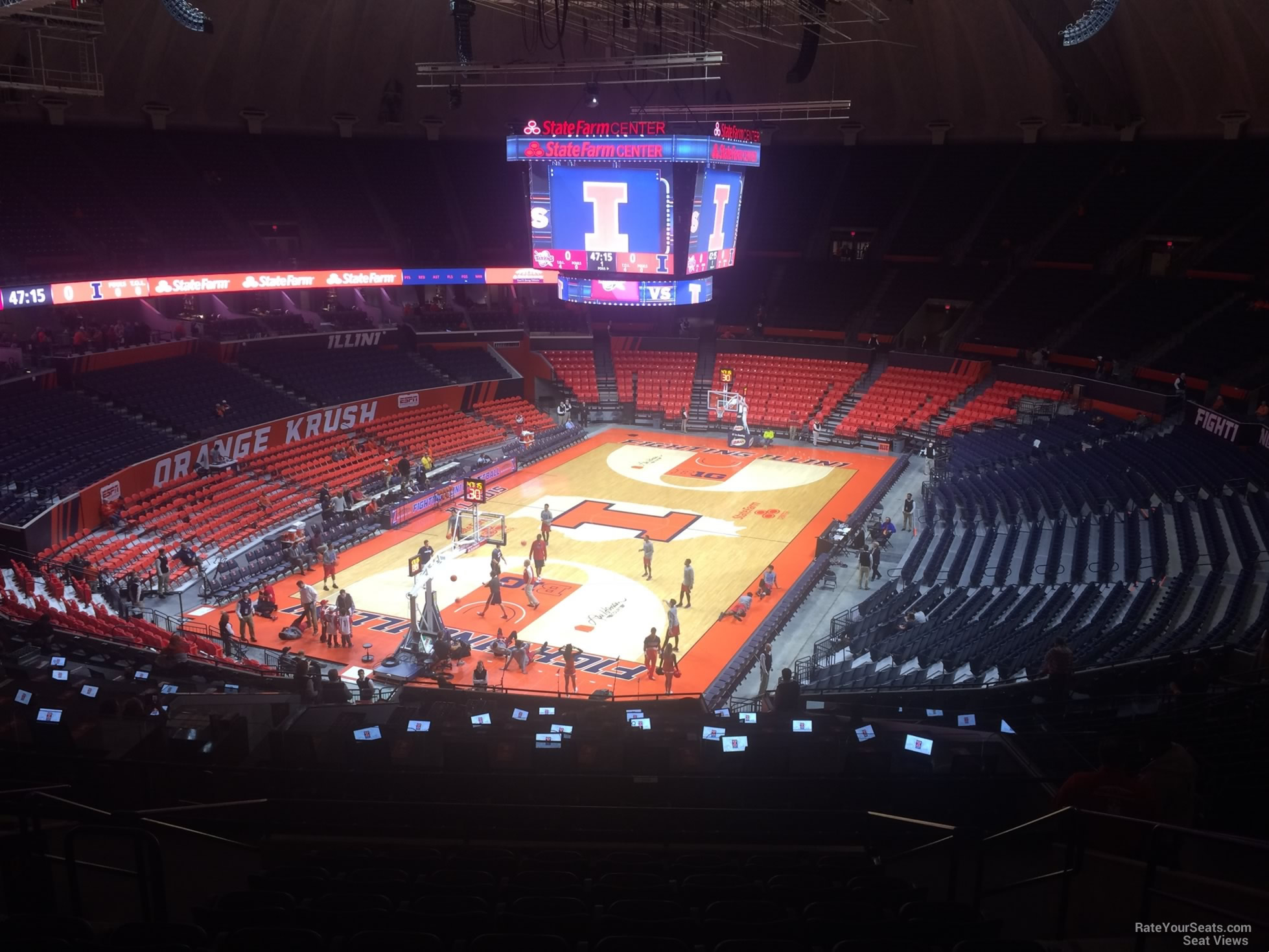 Seat View for State Farm Center Section 210, Row 10