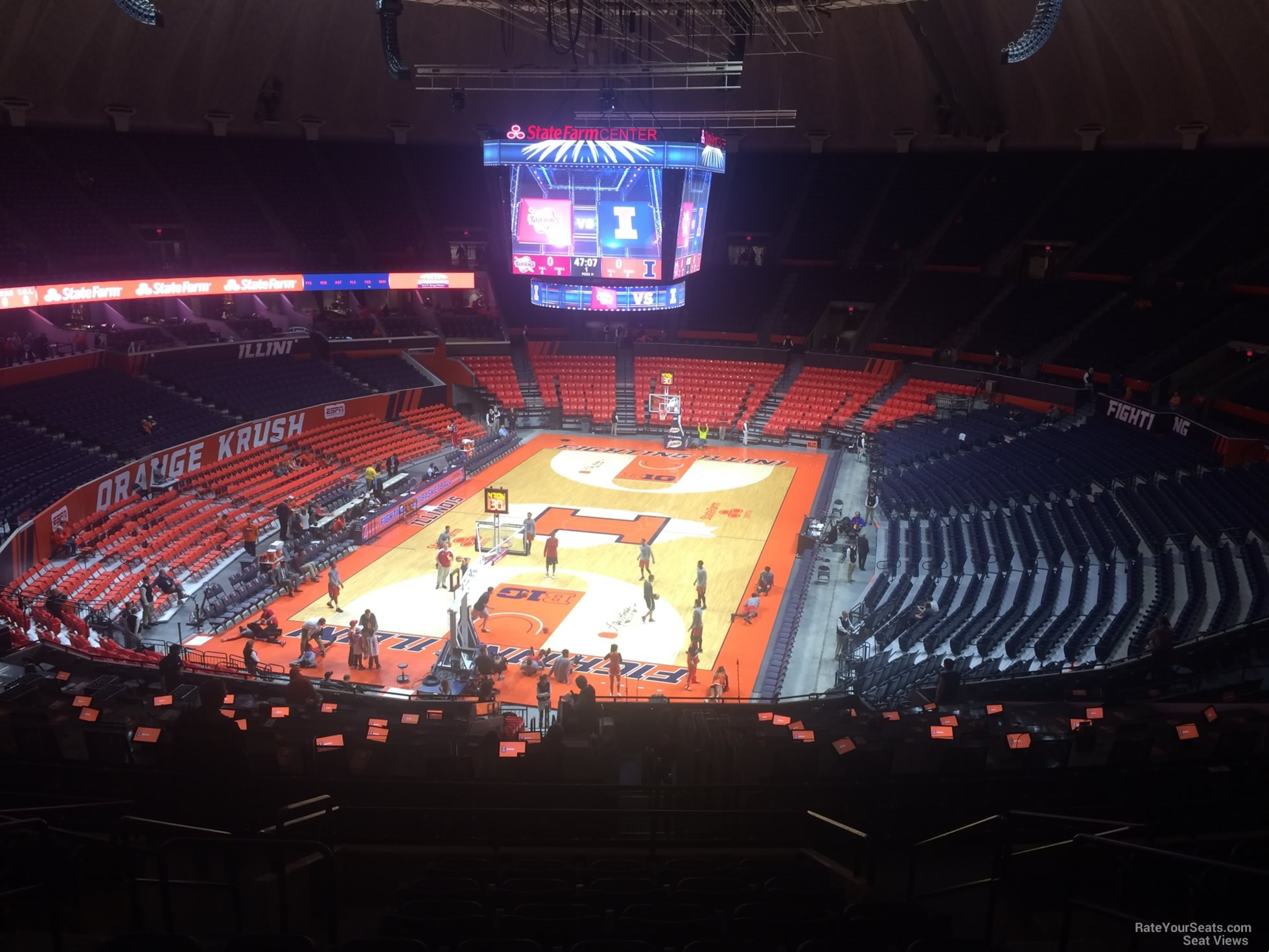 Seat View for State Farm Center Section 211, Row 10