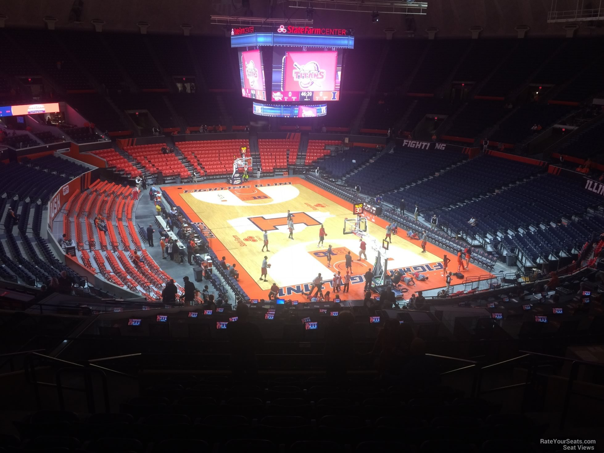 Seat View for State Farm Center Section 216, Row 10