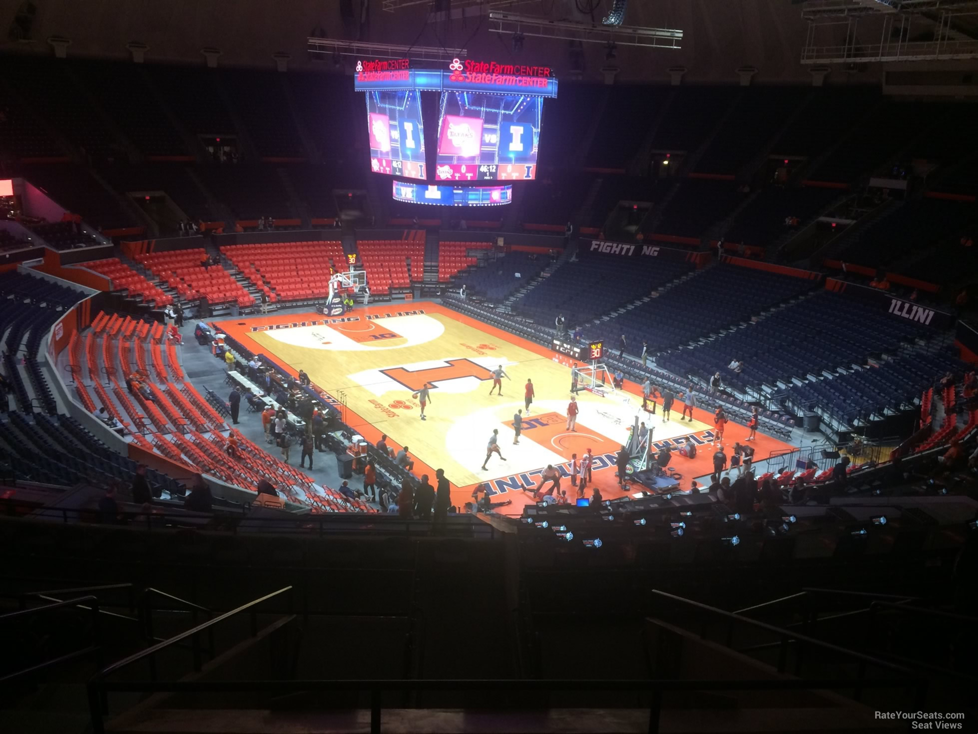 Seat View for State Farm Center Section 217, Row 10