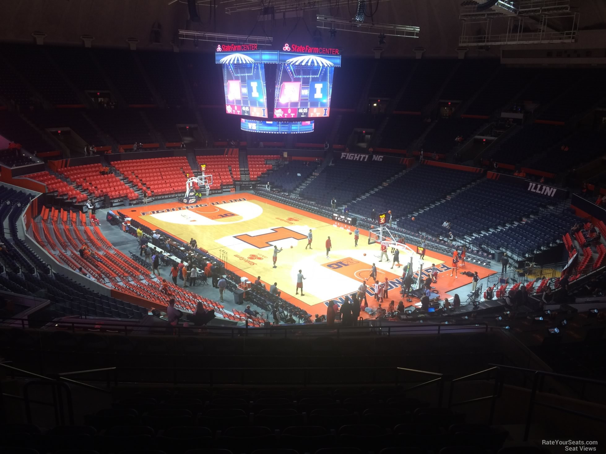 Seat View for State Farm Center Section 218, Row 10