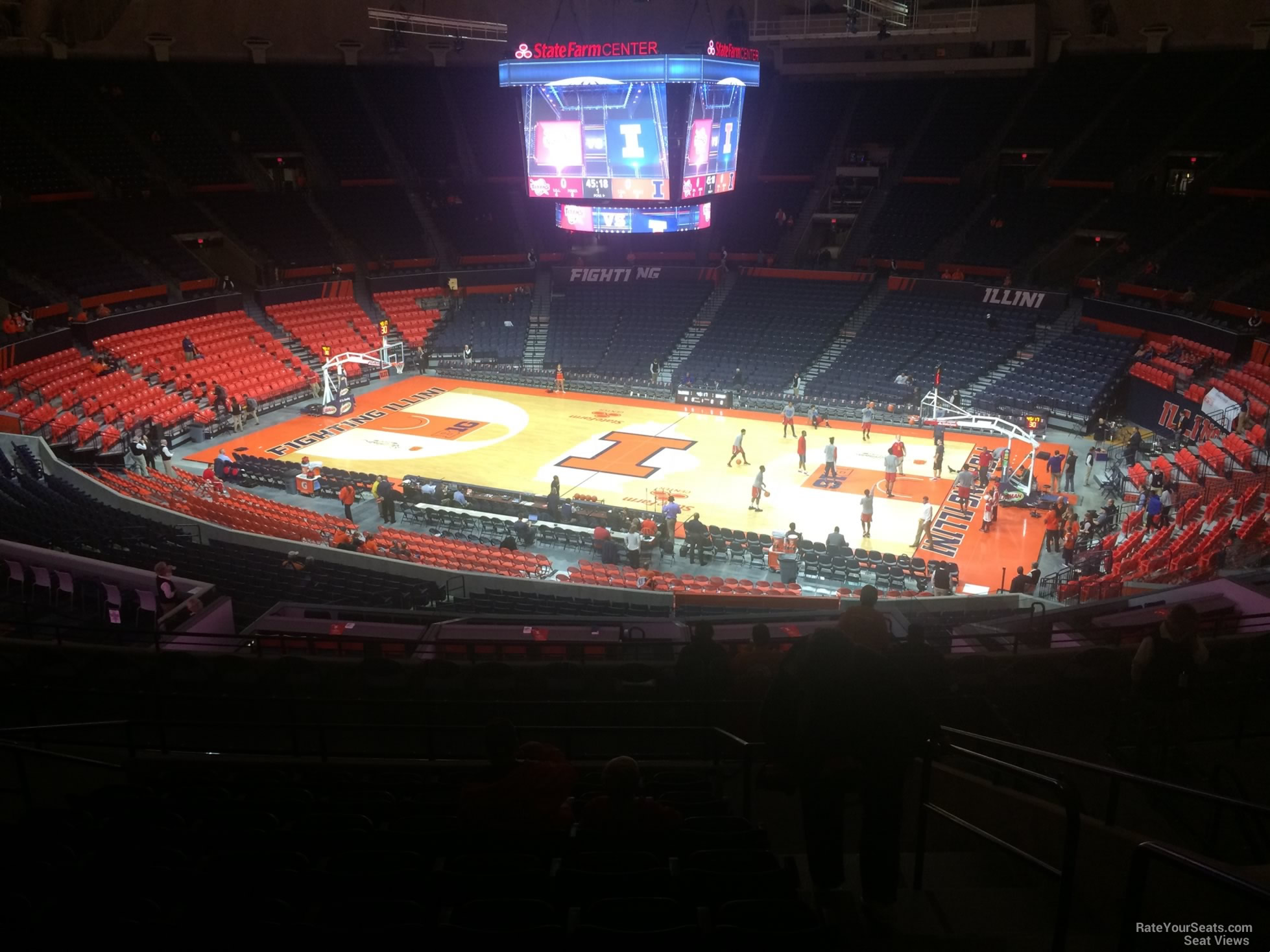 Seat View for State Farm Center Section 222, Row 10