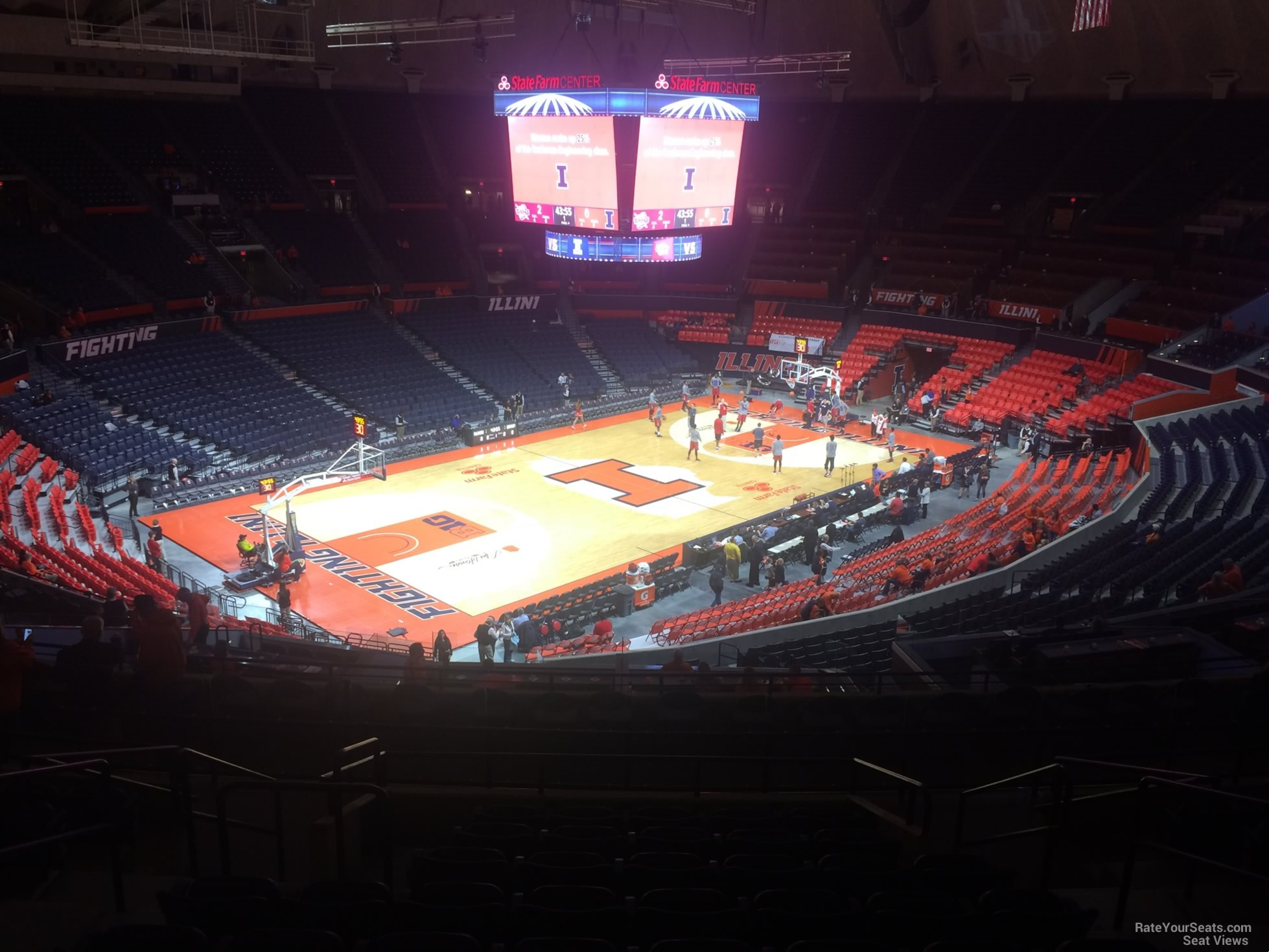 Seat View for State Farm Center Section 231, Row 10