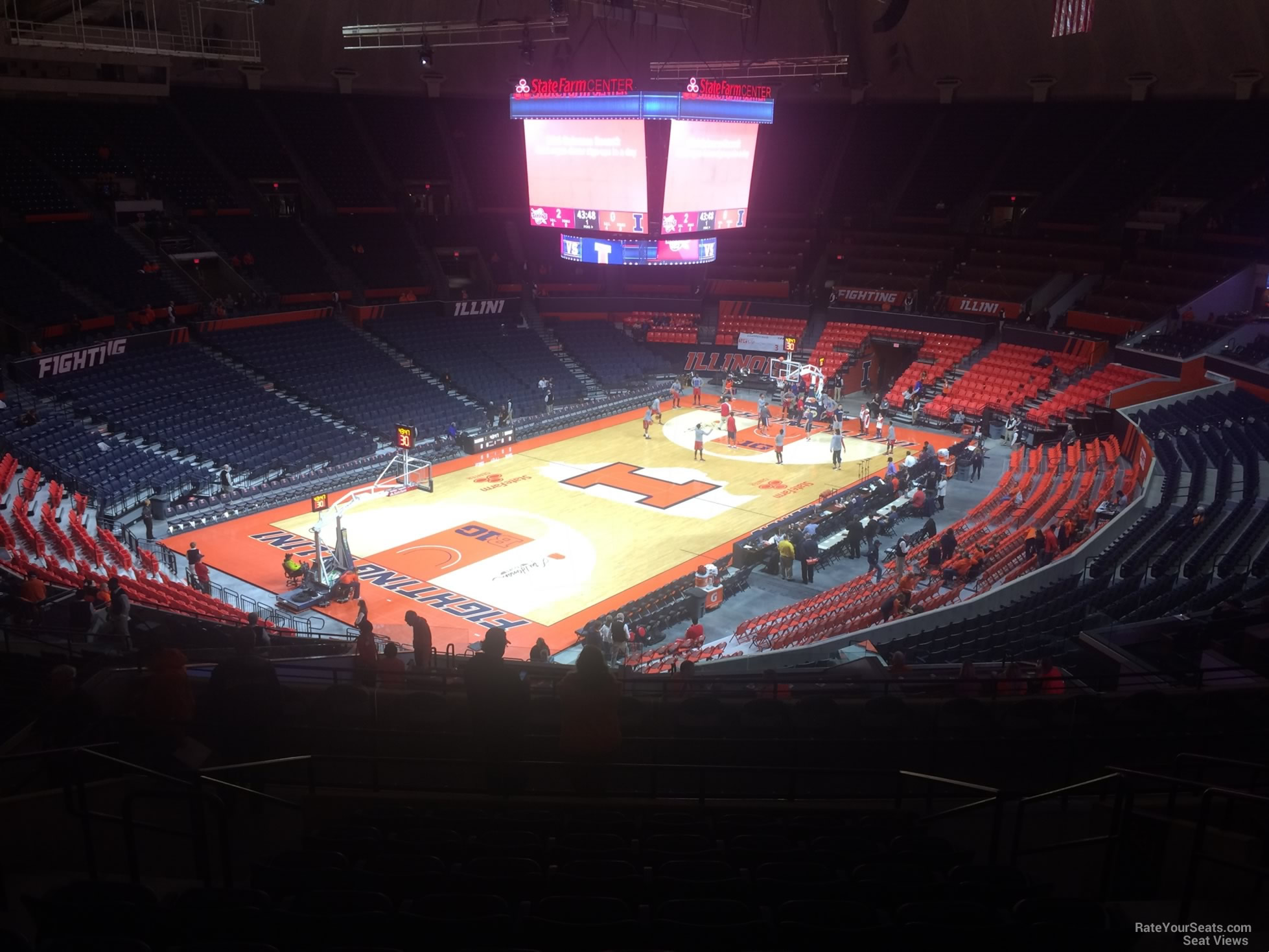 Seat View for State Farm Center Section 232, Row 10